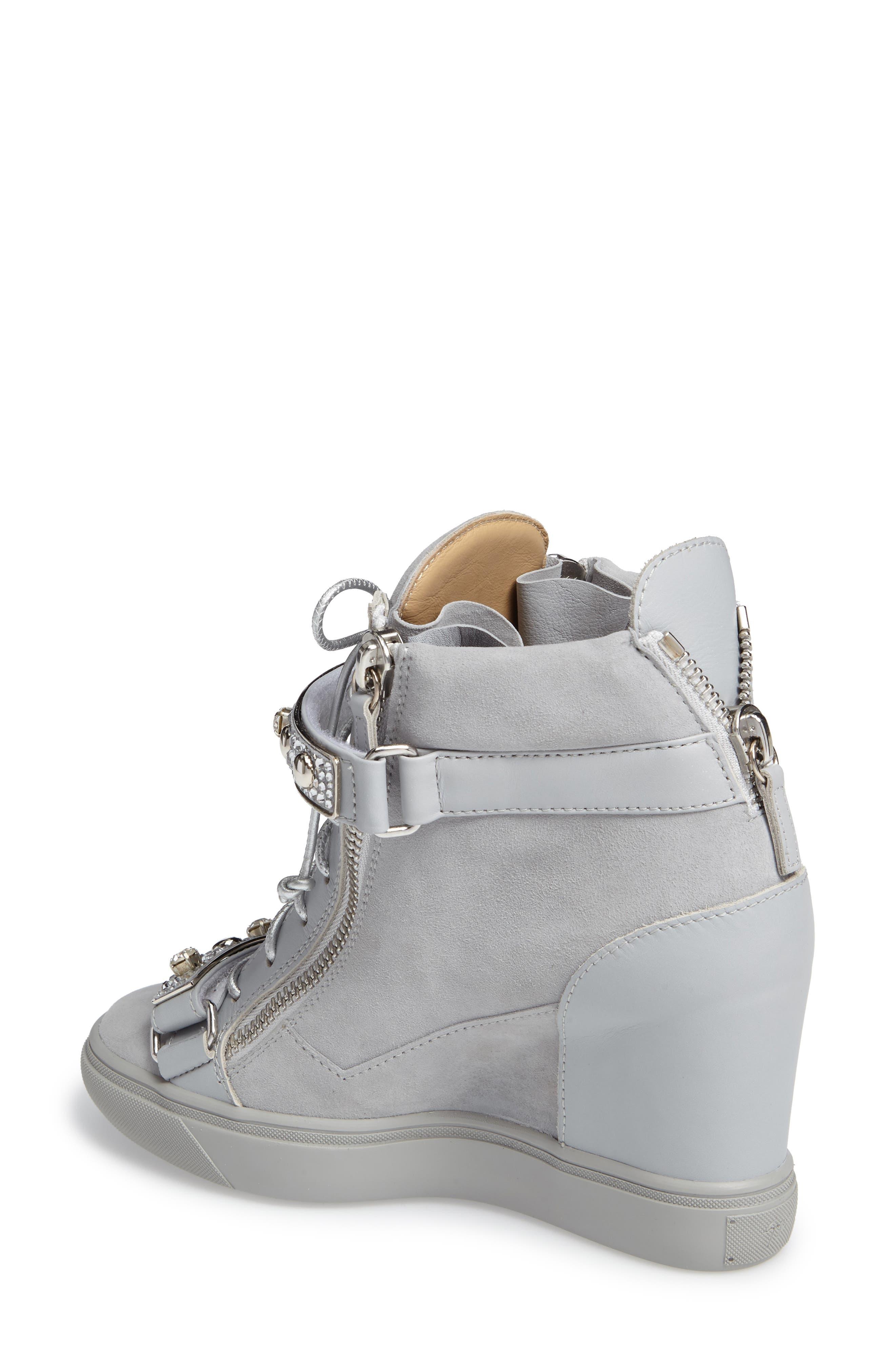 Giuseppe for Jennifer Lopez Tiana Hidden Wedge Sneaker,                             Alternate thumbnail 3, color,