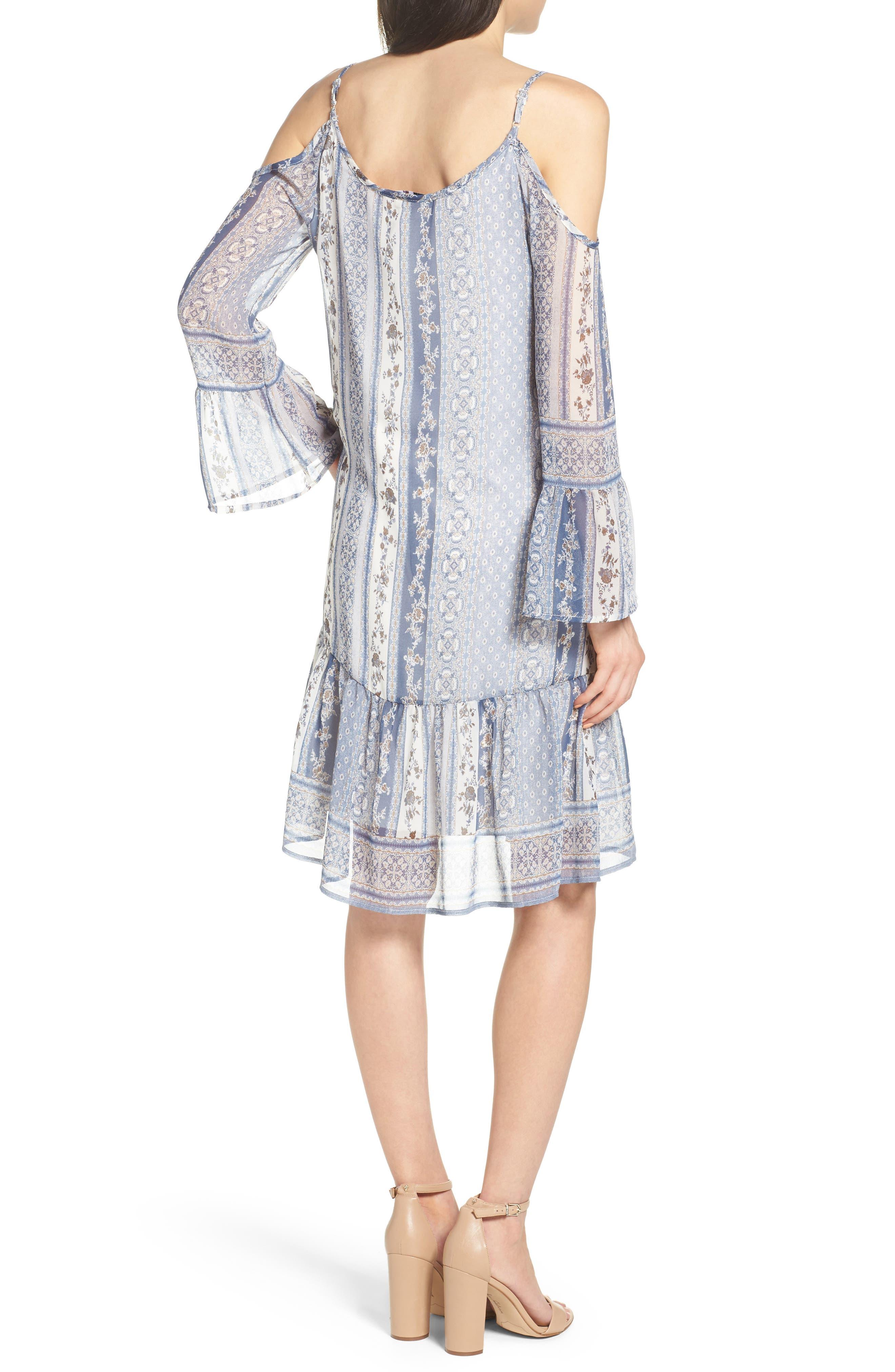 Cold Shoulder Dress,                             Alternate thumbnail 2, color,                             450