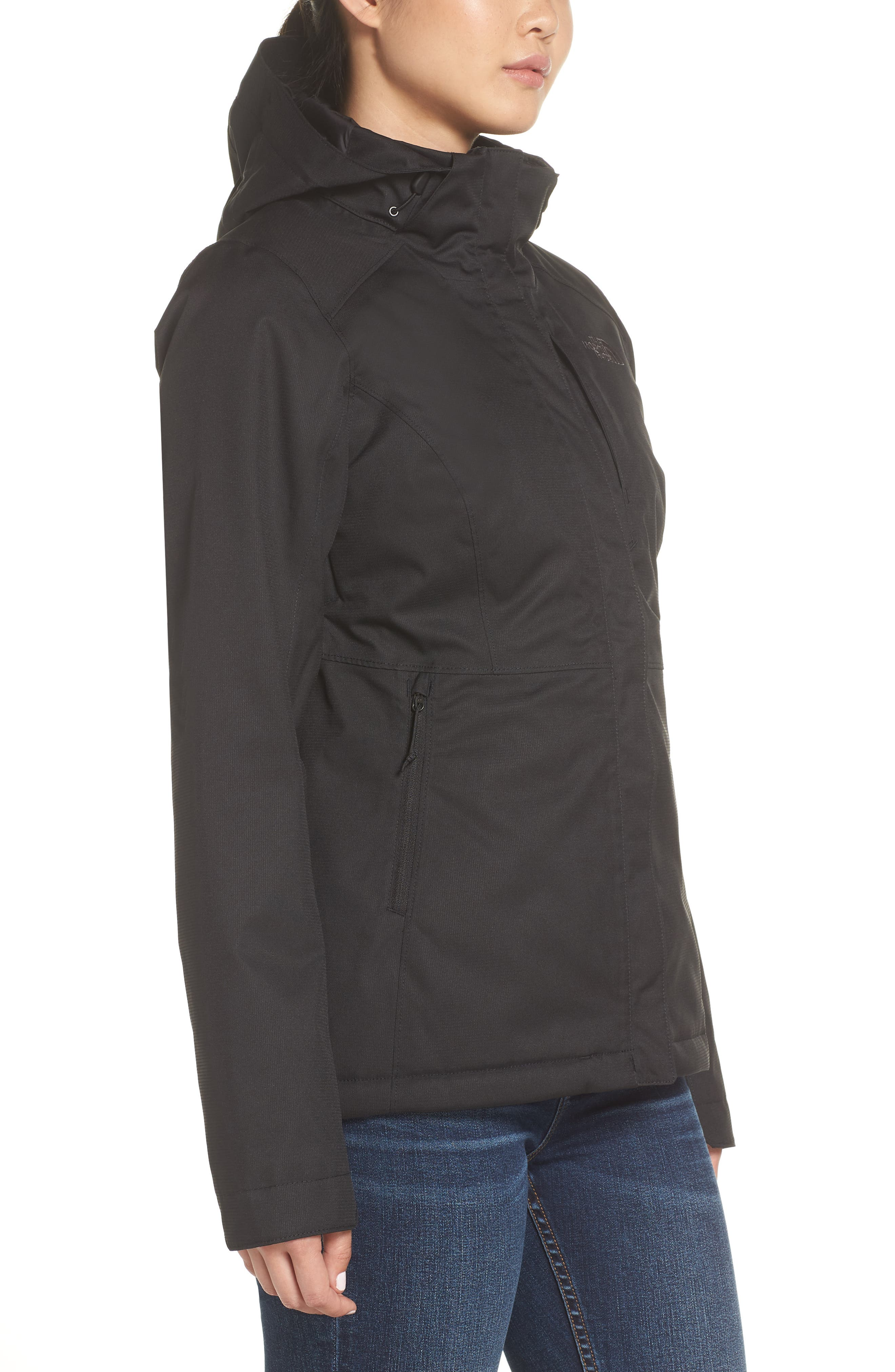 Inlux 2.0 Standard Fit Hooded DryVent Jacket,                             Alternate thumbnail 3, color,                             TNF BLACK