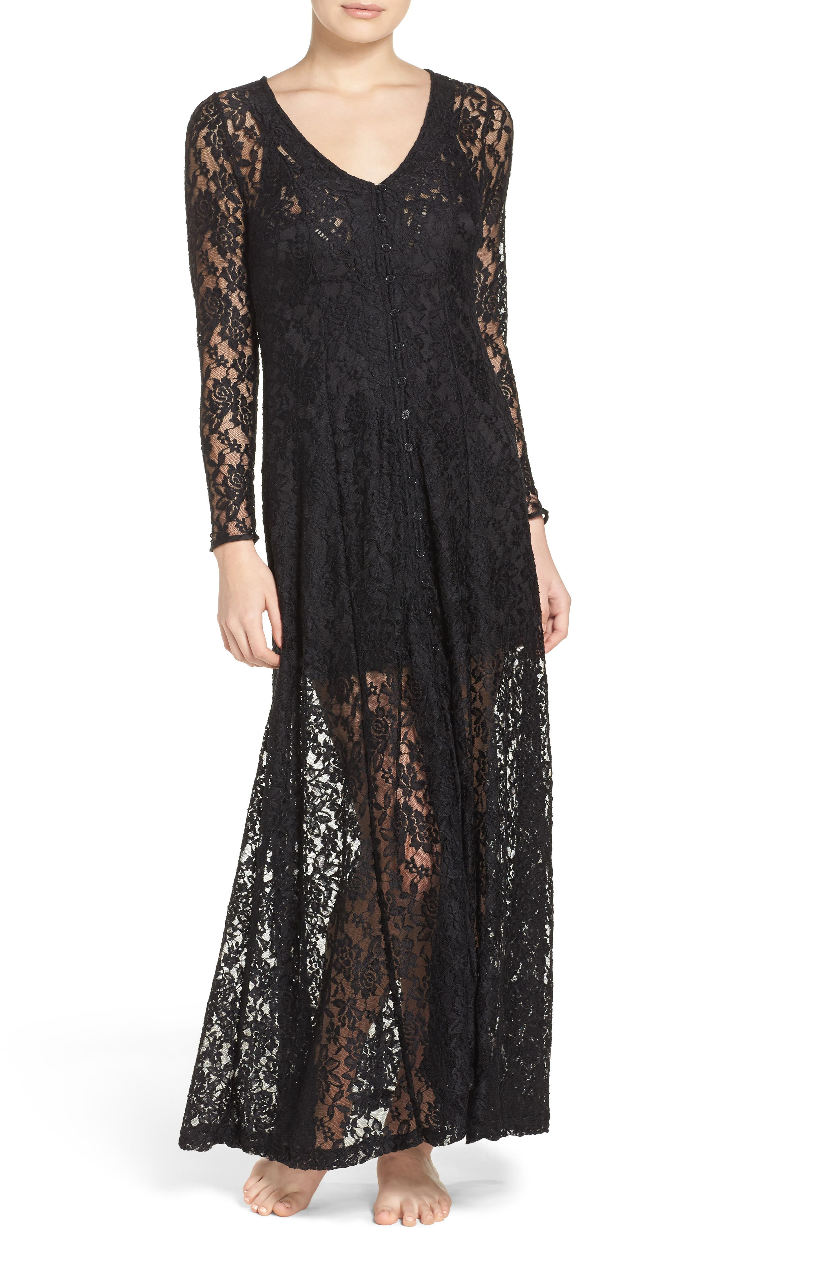 Lace Duster Robe, Main, color, 003