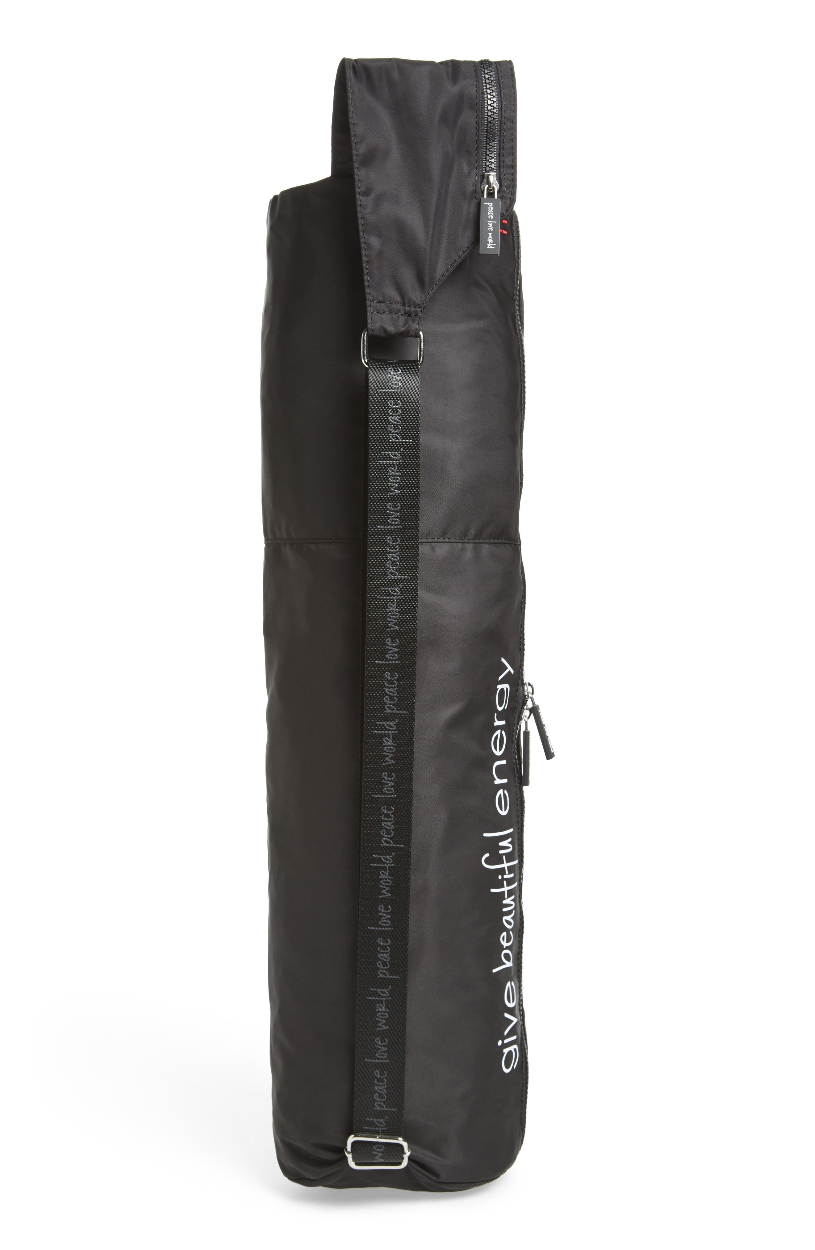Nylon Yoga Bag,                             Alternate thumbnail 3, color,                             001