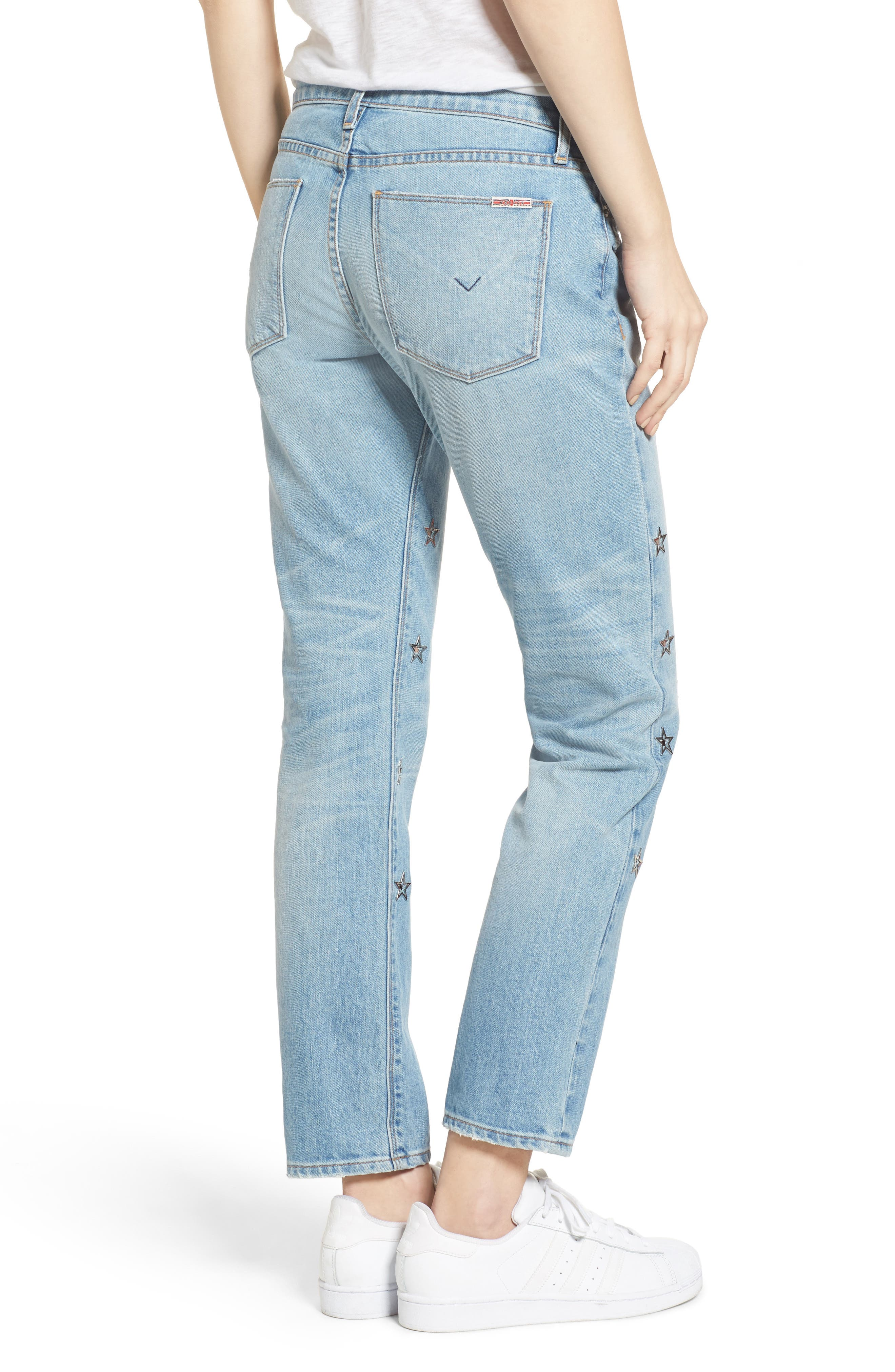 Riley Crop Relaxed Straight Leg Jeans,                             Alternate thumbnail 5, color,