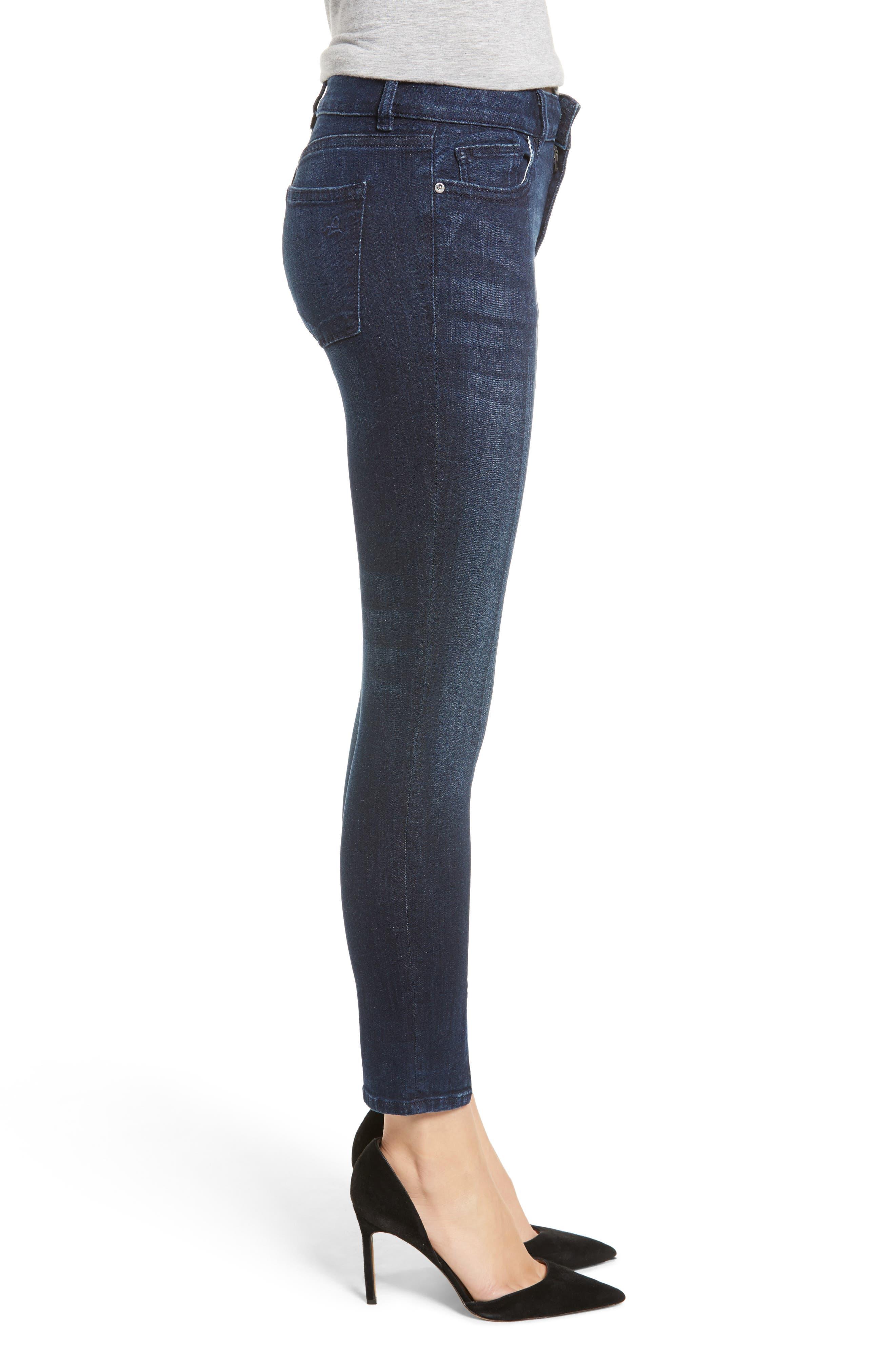 Florence Instasculpt Split Hem Crop Skinny Jeans,                             Alternate thumbnail 3, color,                             ALDRIDGE
