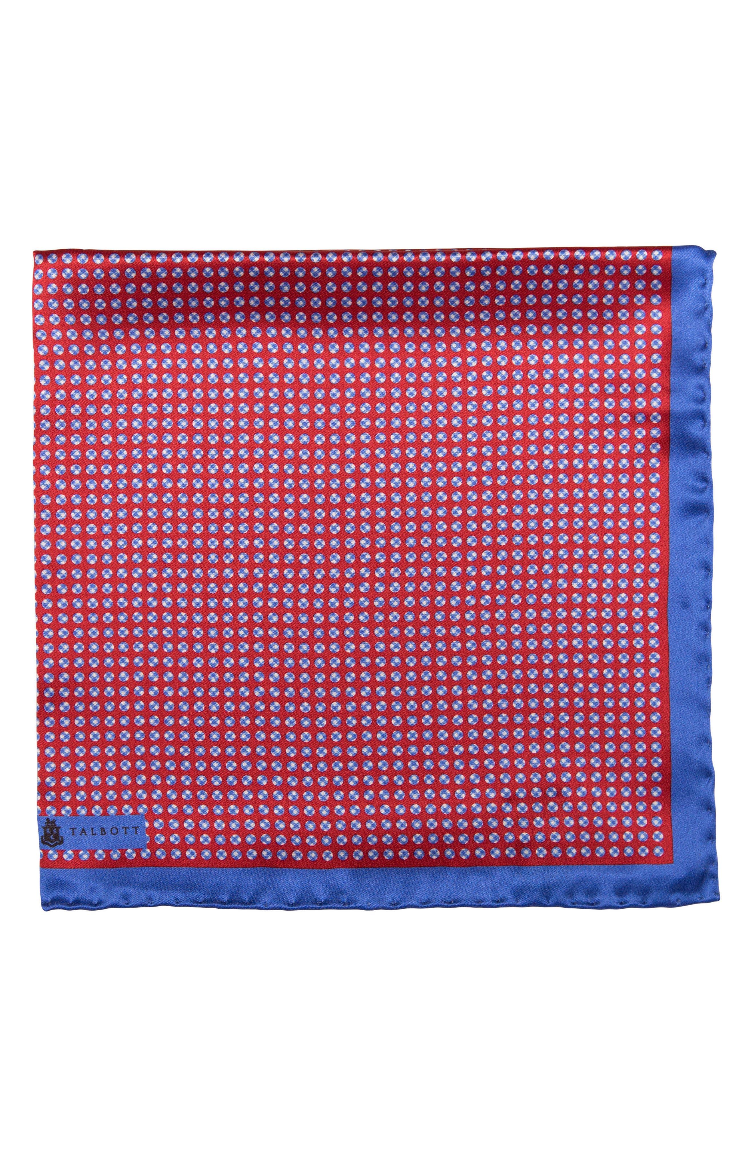 Dot Silk Pocket Square,                             Main thumbnail 3, color,