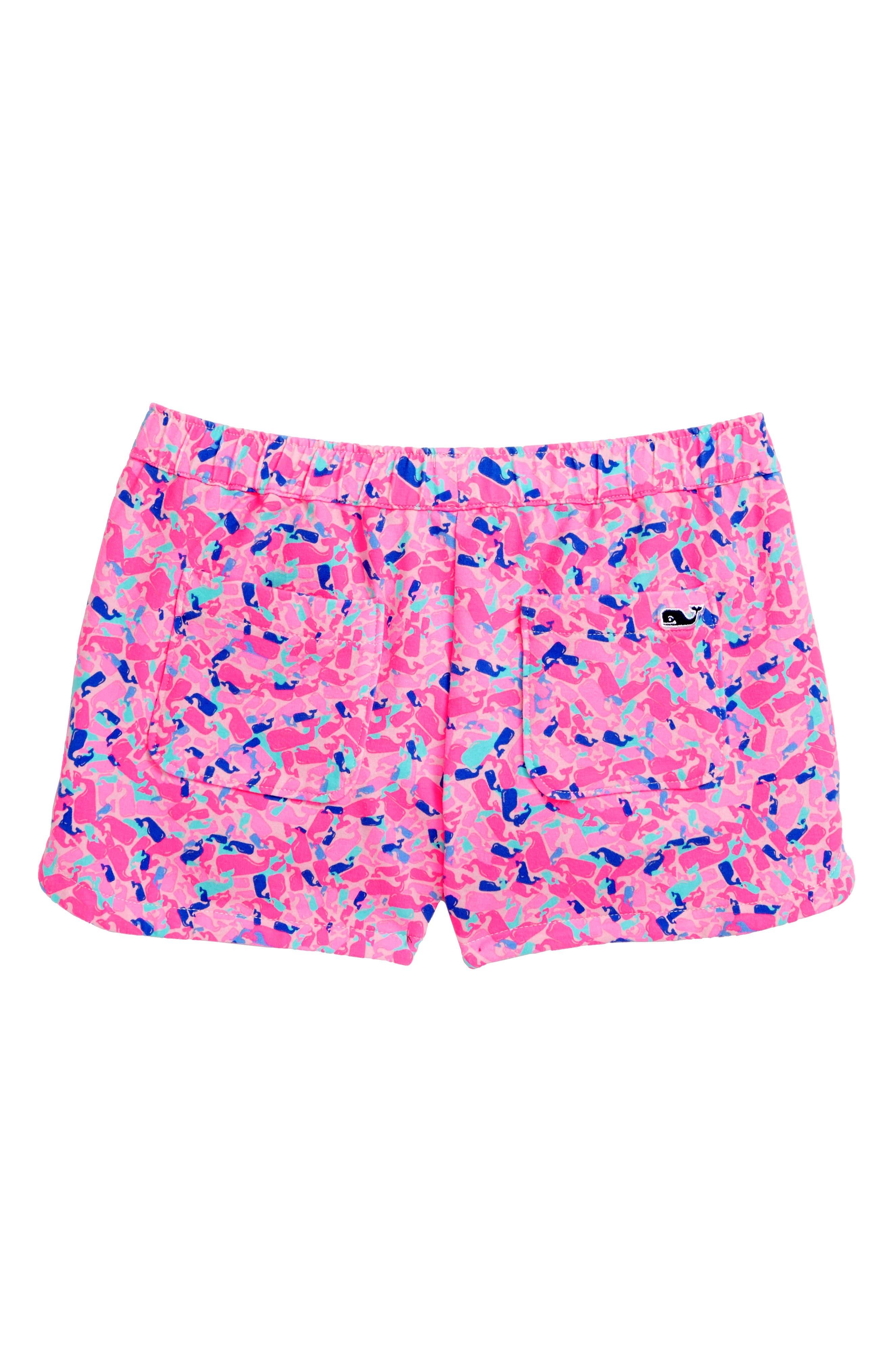 Whale Swirl Shorts,                             Alternate thumbnail 2, color,                             MALIBU PINK