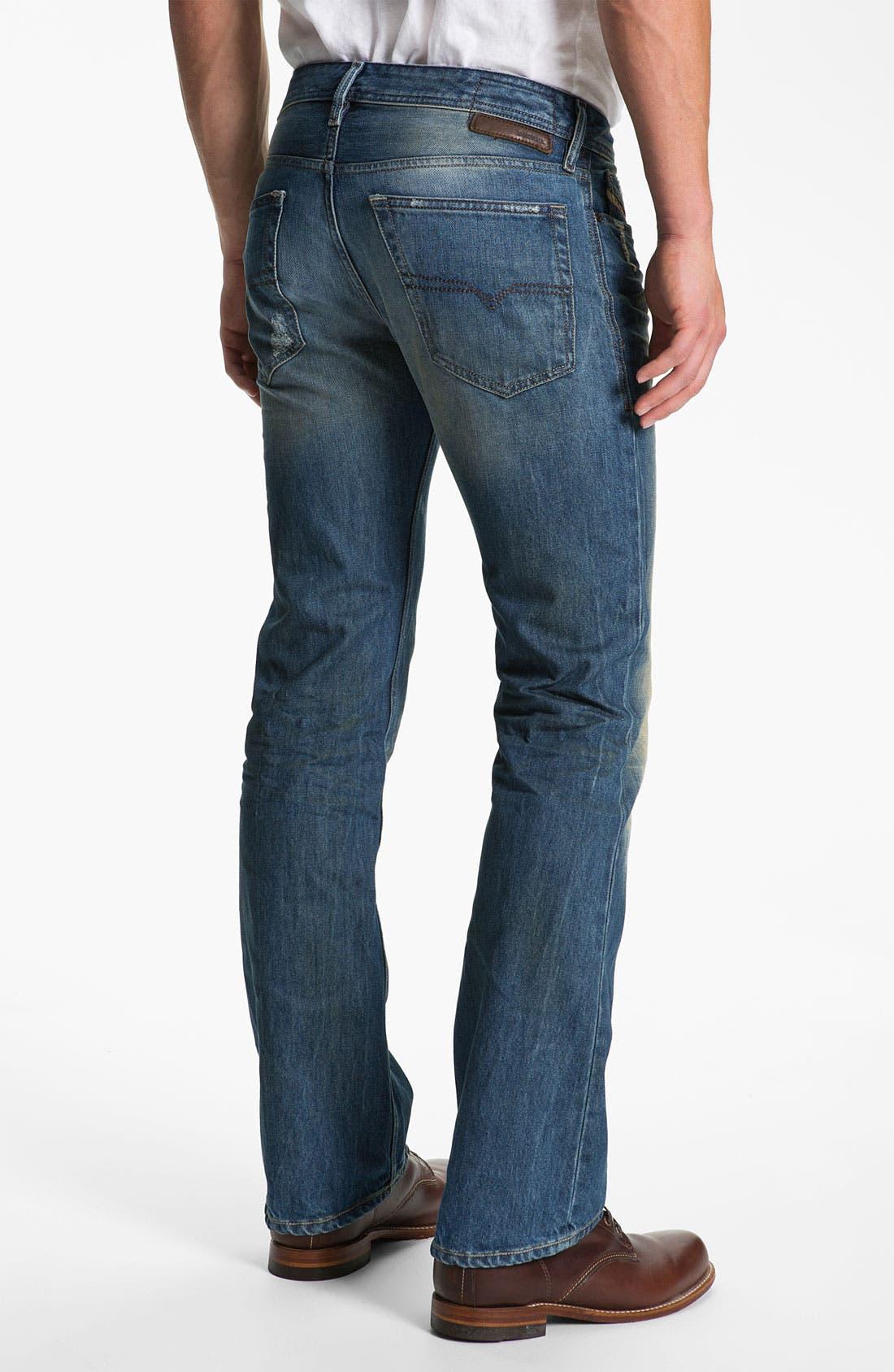 'New Fanker' Slim Bootcut Jeans,                             Main thumbnail 1, color,                             400