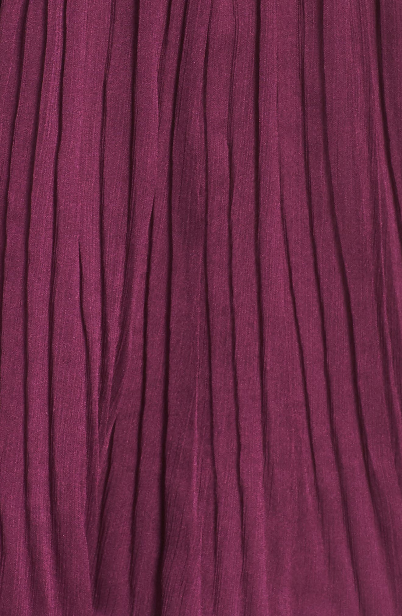 Tiered Skirt Midi Dress,                             Alternate thumbnail 6, color,                             PURPLE DARK