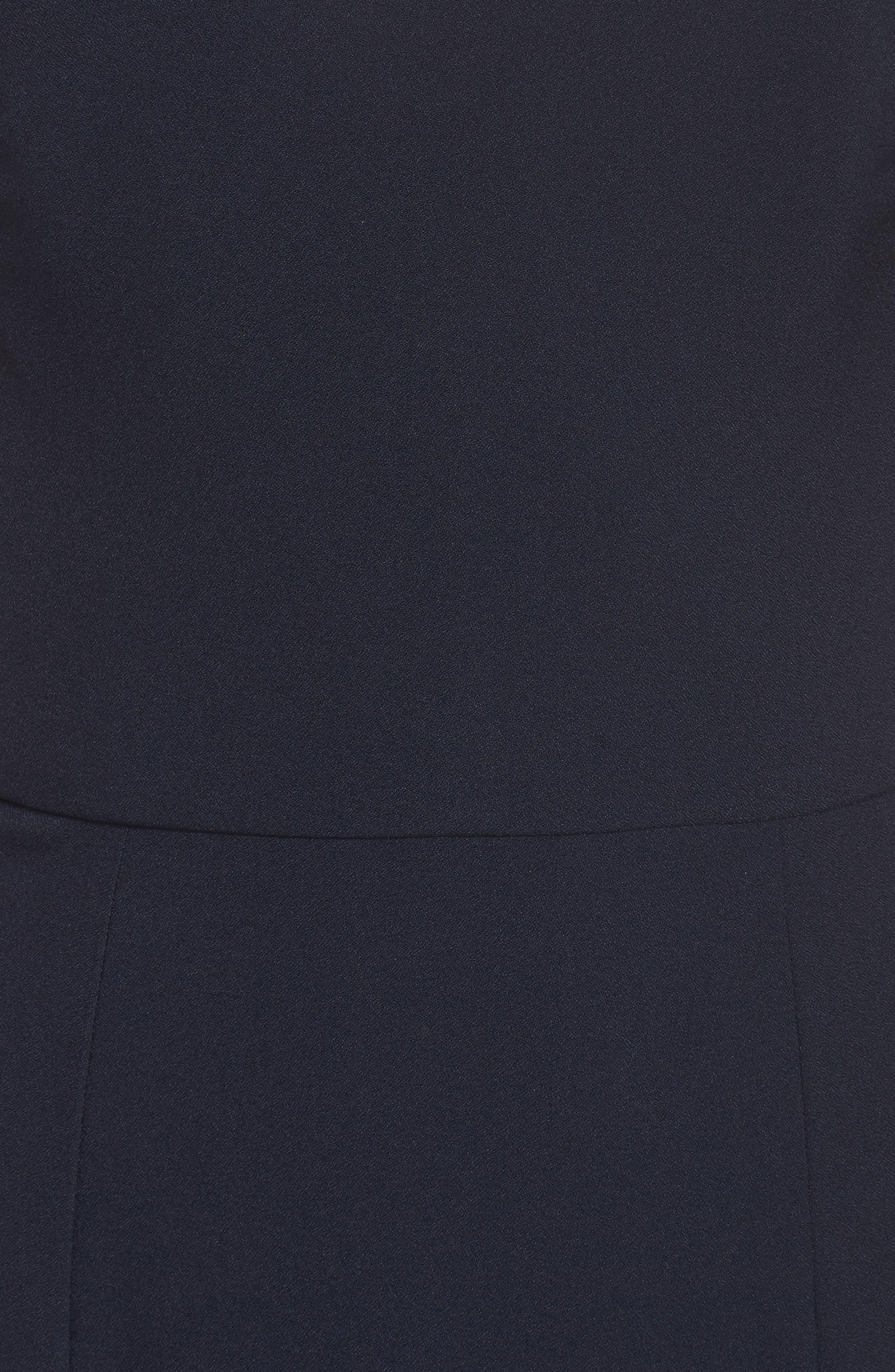 Off the Shoulder Crepe Gown,                             Alternate thumbnail 5, color,                             410