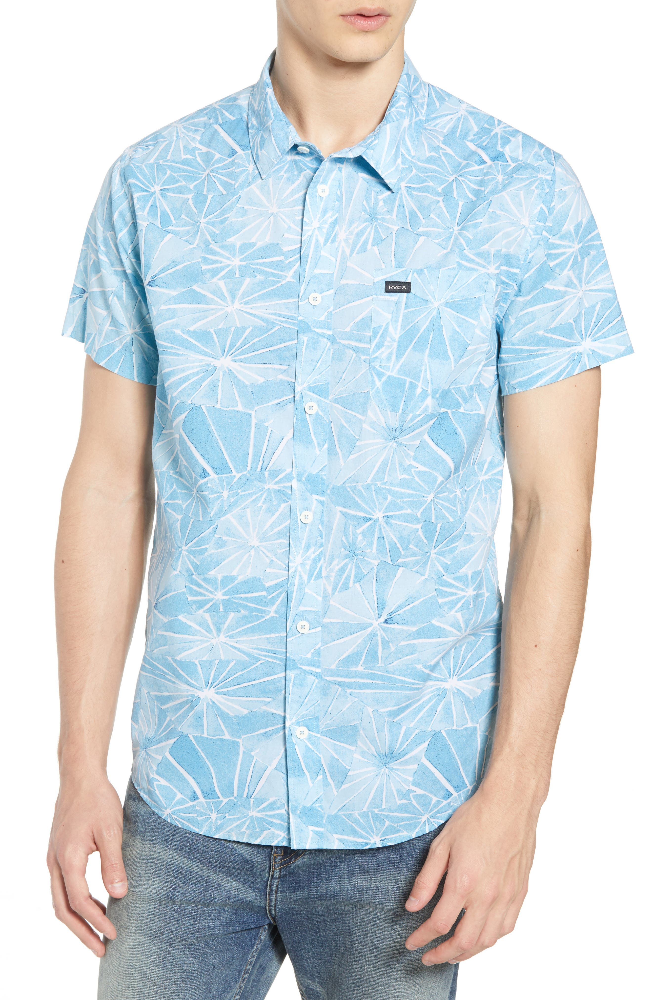 Blade Woven Shirt,                             Main thumbnail 1, color,                             DUSTY BLUE