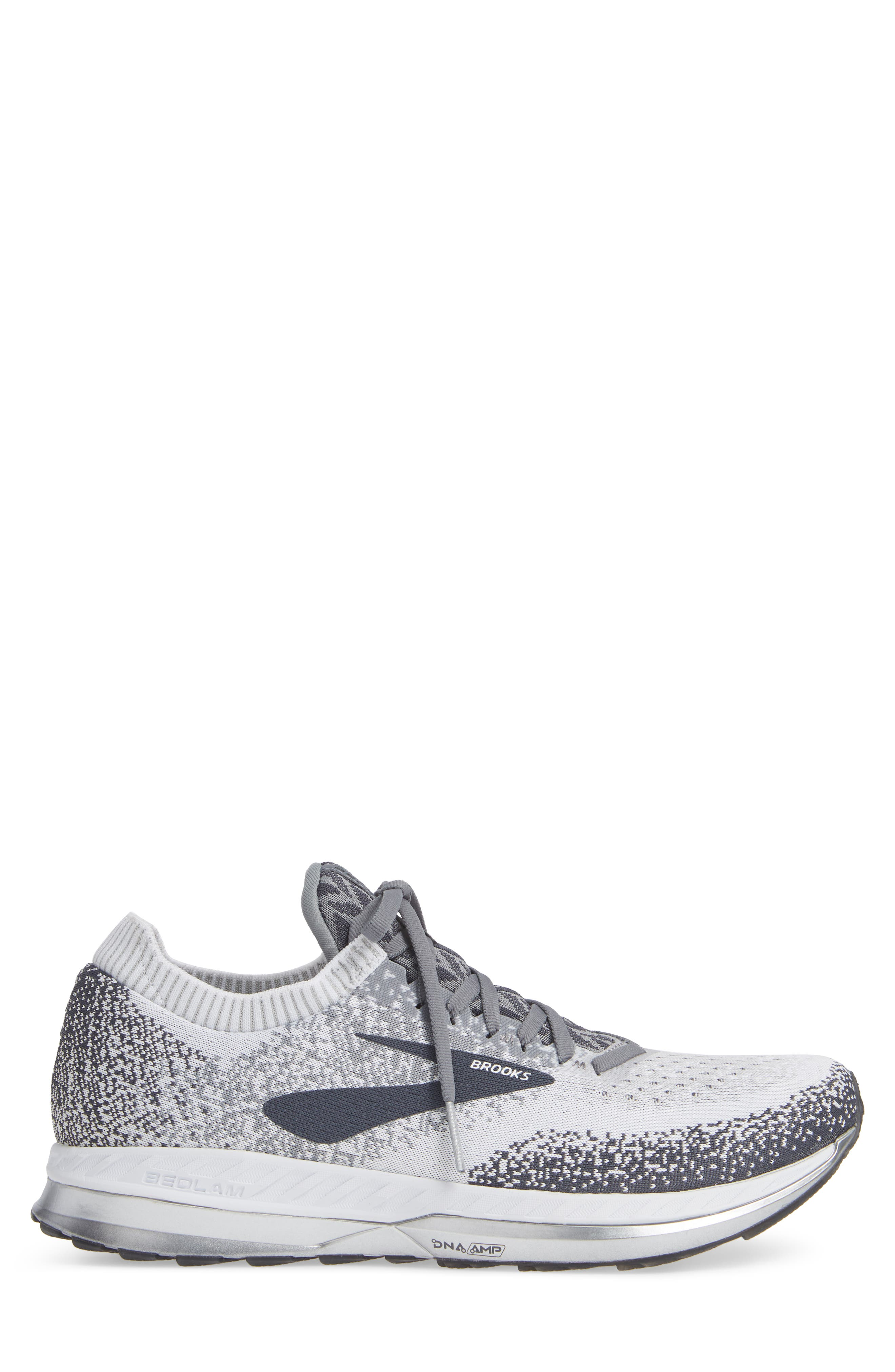 Bedlam Running Shoe,                             Alternate thumbnail 3, color,                             GREY/ WHITE/ EBONY