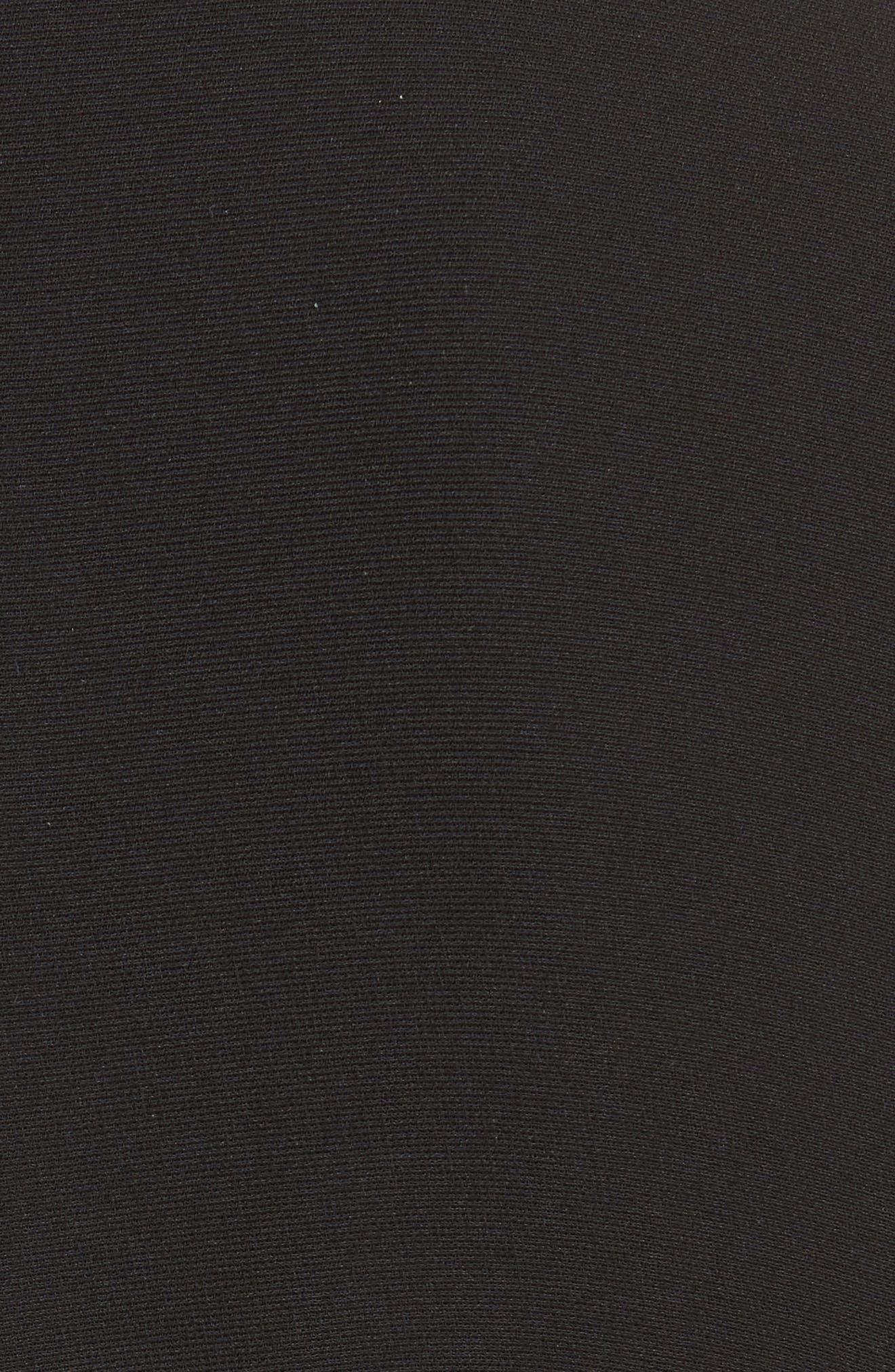 Pleated Hem Fit & Flare Dress,                             Alternate thumbnail 5, color,                             001