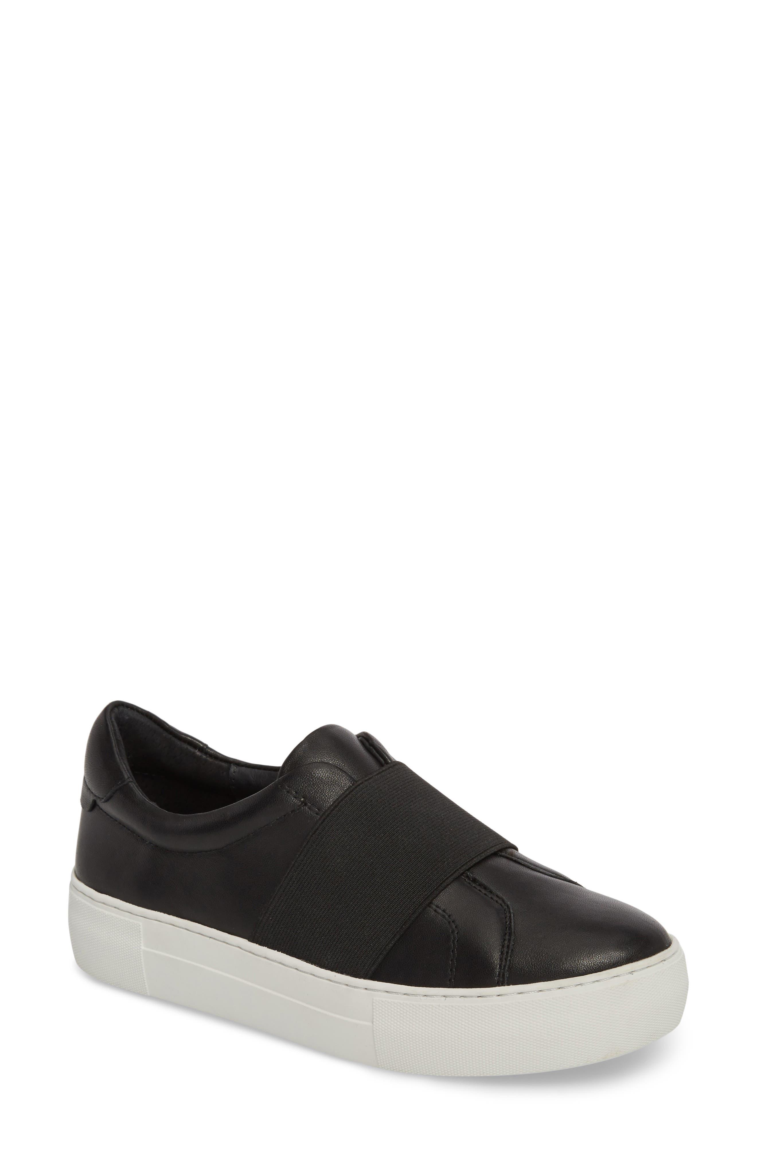 Adorn Slip-On Sneaker,                             Main thumbnail 1, color,                             BLACK/ BLACK LEATHER