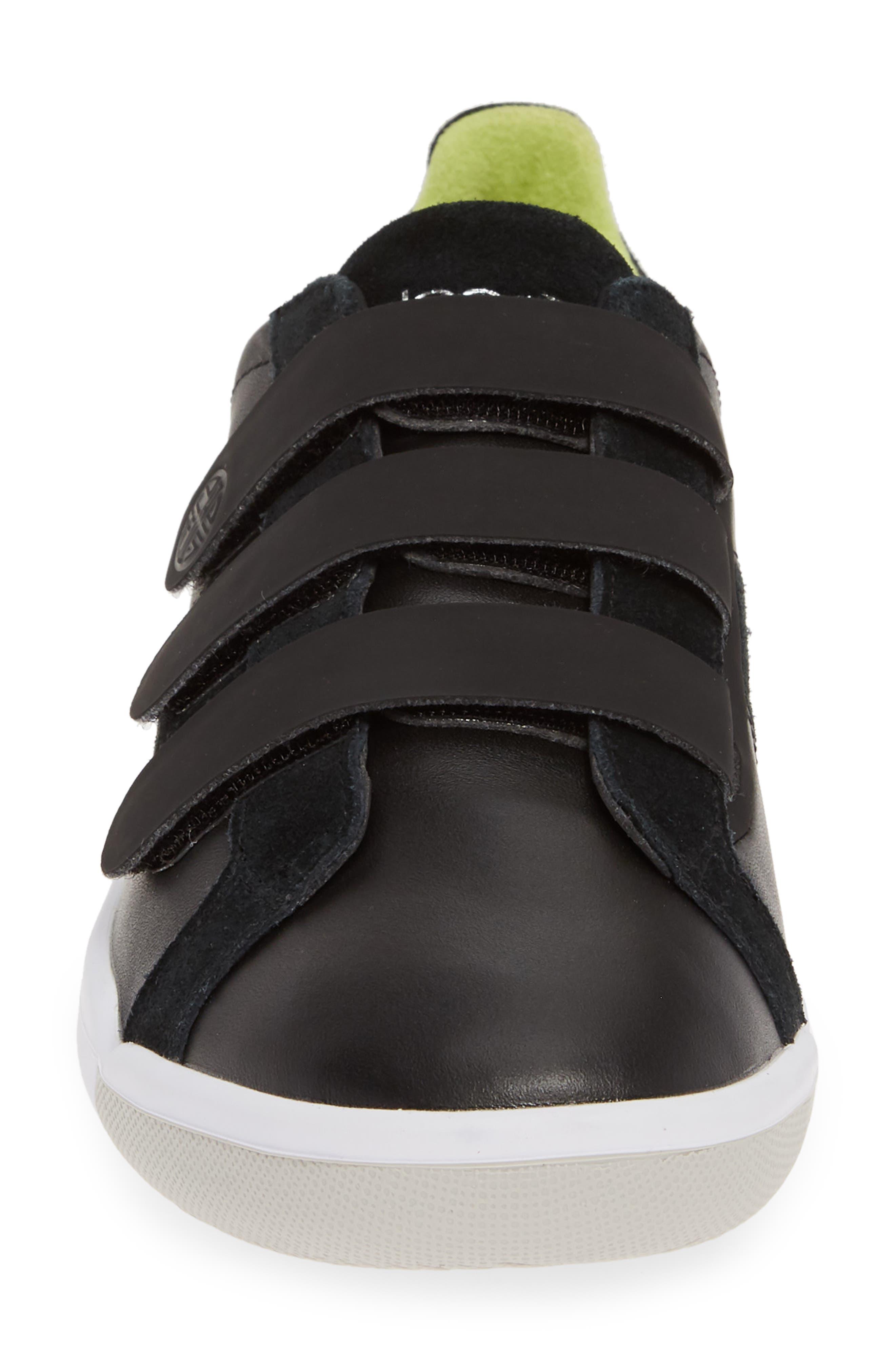 PLAE,                             Larkin Low Top Sneaker,                             Alternate thumbnail 4, color,                             BLACK LEATHER/ SUEDE