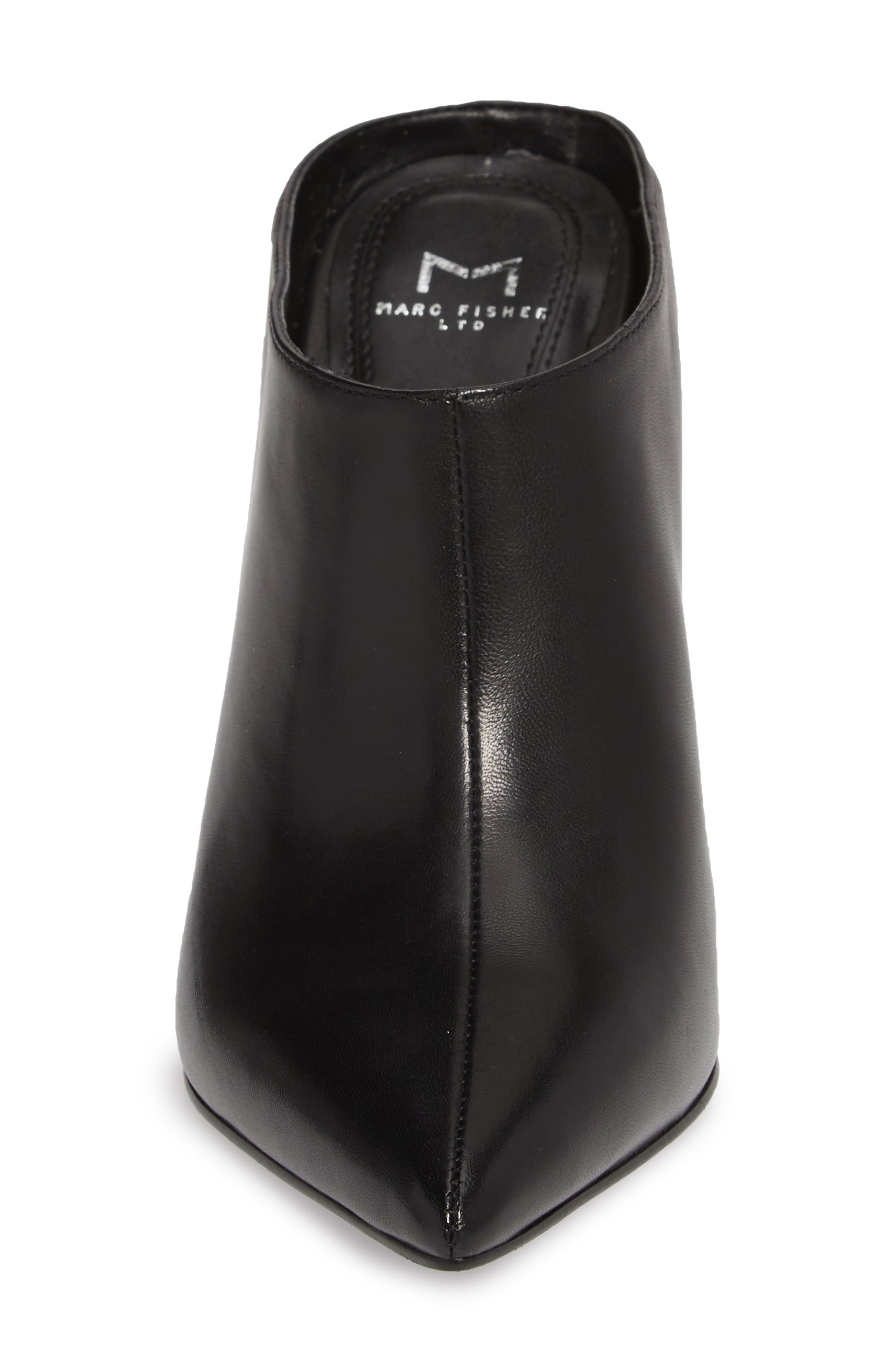 Harlie Pointy Toe Mule,                             Alternate thumbnail 4, color,                             BLACK LEATHER
