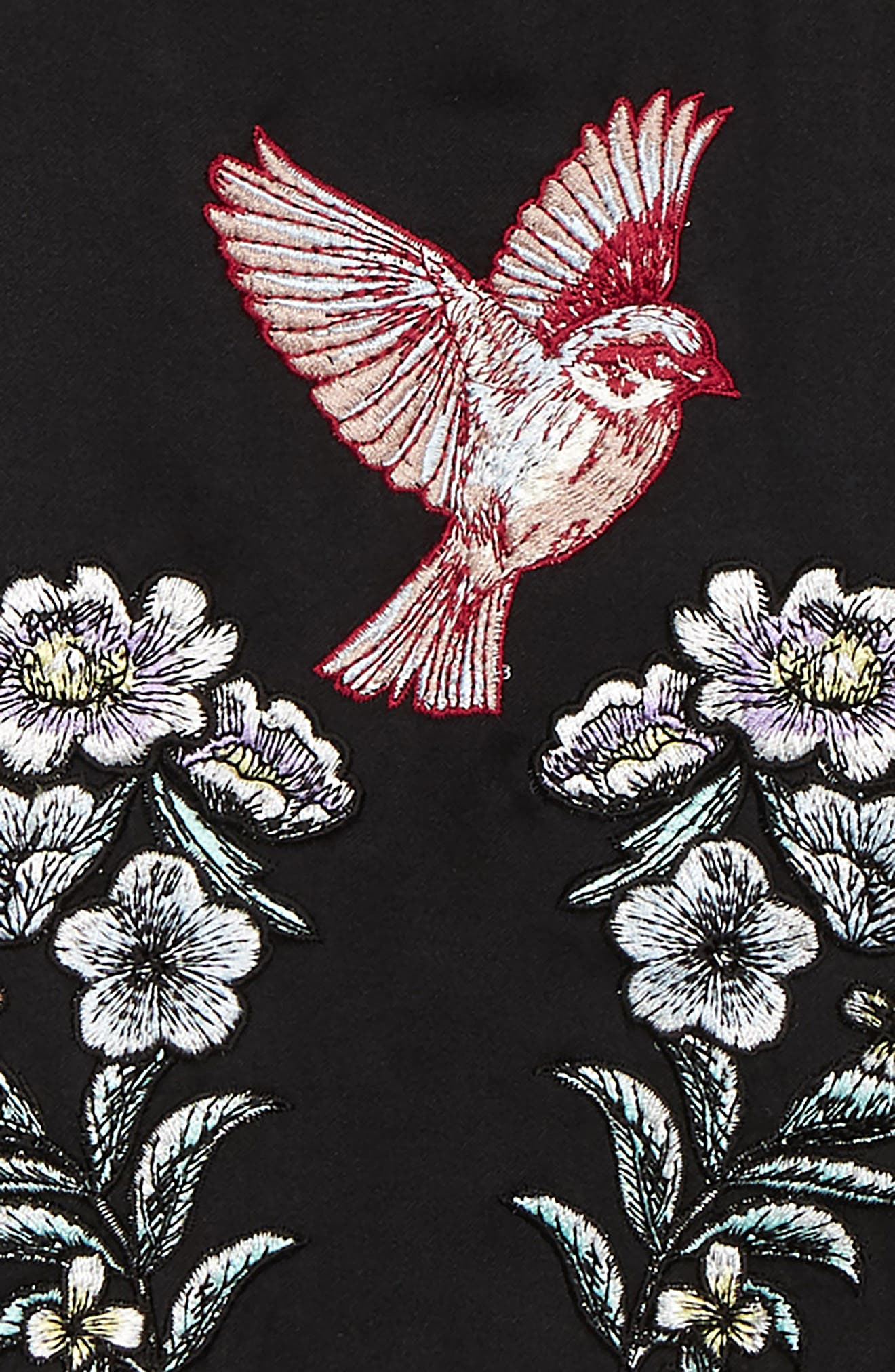 Willow Bomber Jacket,                             Alternate thumbnail 3, color,                             BLACK