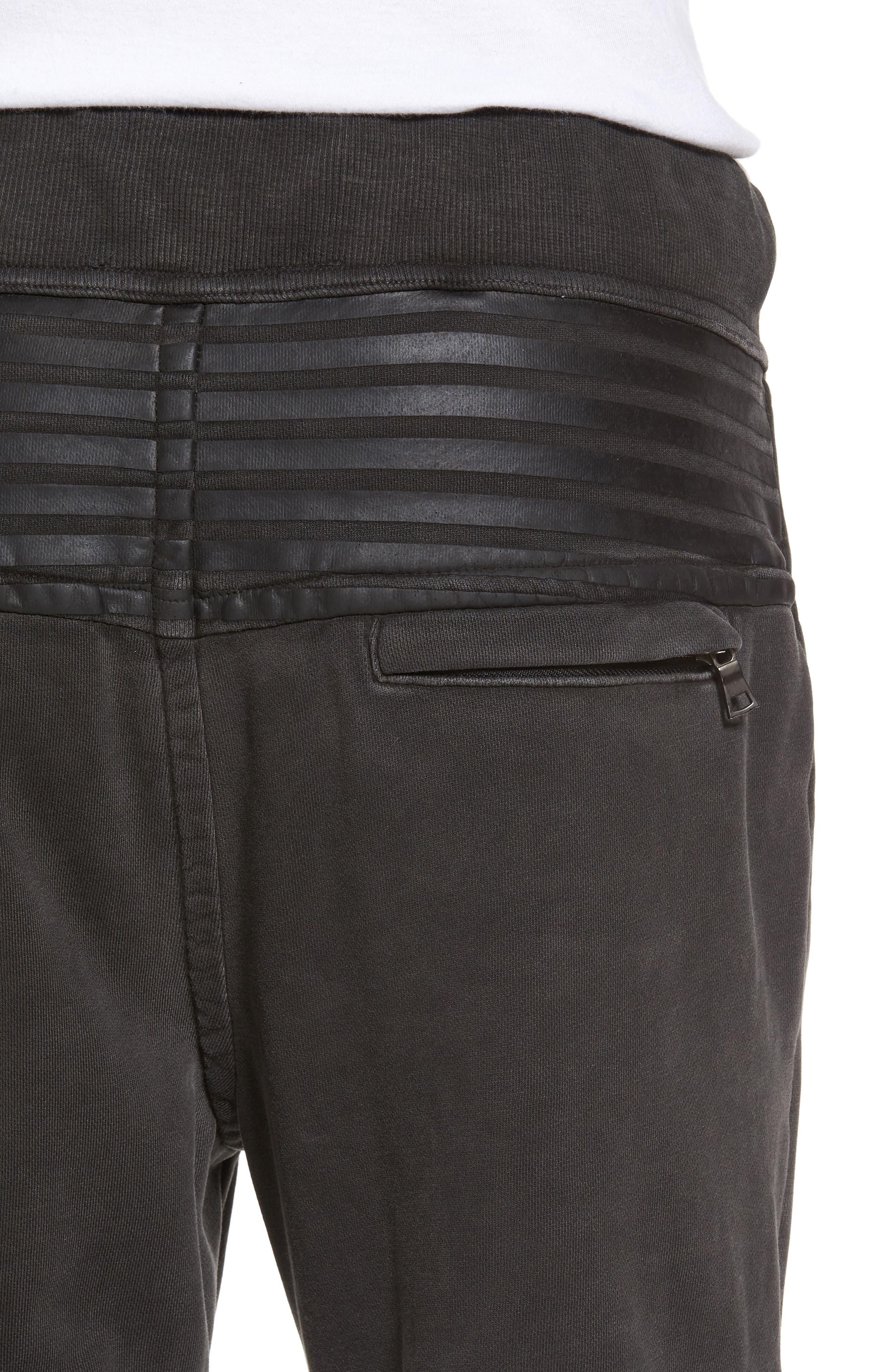 Moto Sweatpants,                             Alternate thumbnail 4, color,                             001