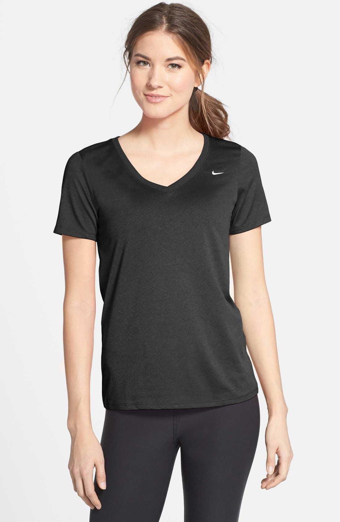 NIKE 'Legend 2.0' Short Sleeve V-Neck Tee, Main, color, 010