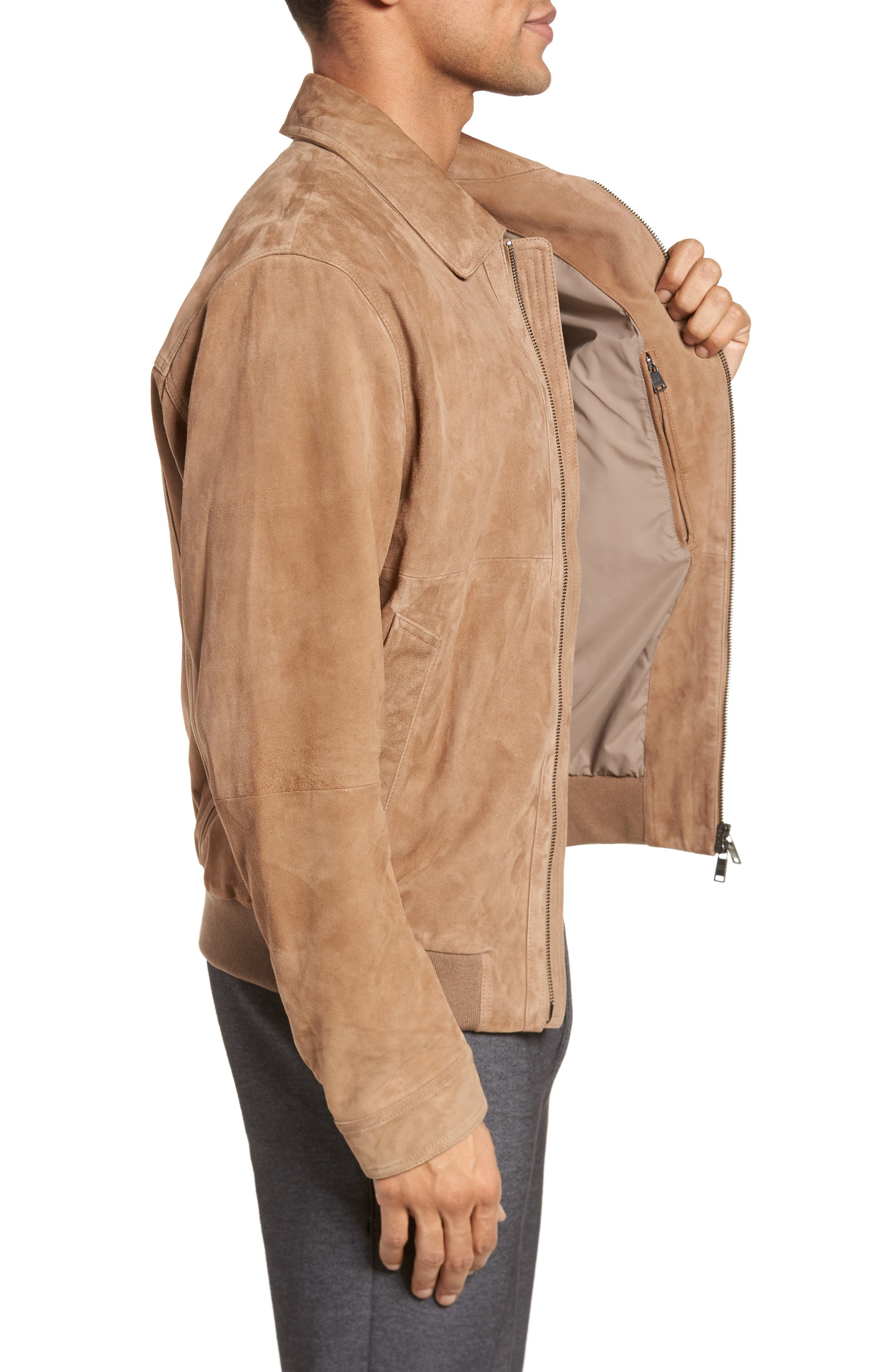 Avelan Suede Jacket,                             Alternate thumbnail 3, color,