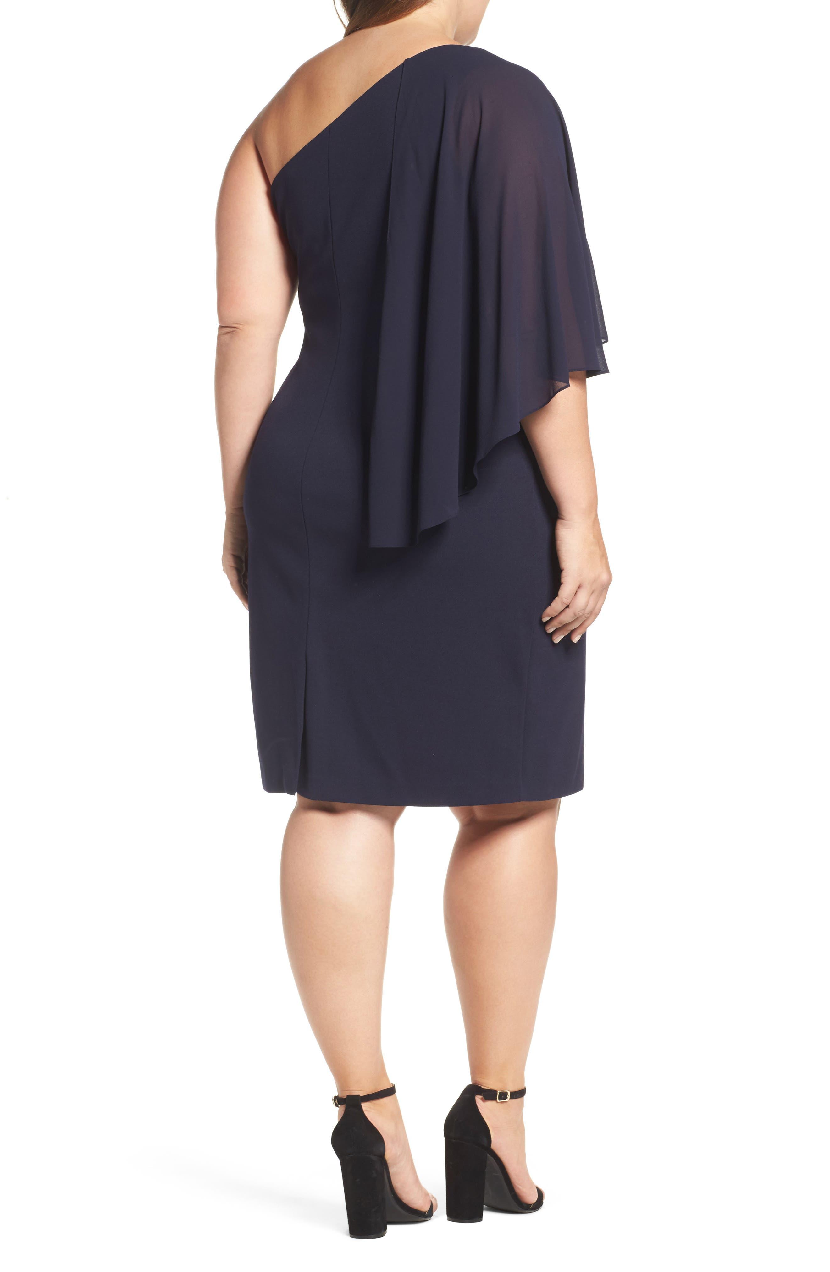 One-Shoulder Sheath Dress,                             Alternate thumbnail 2, color,                             410