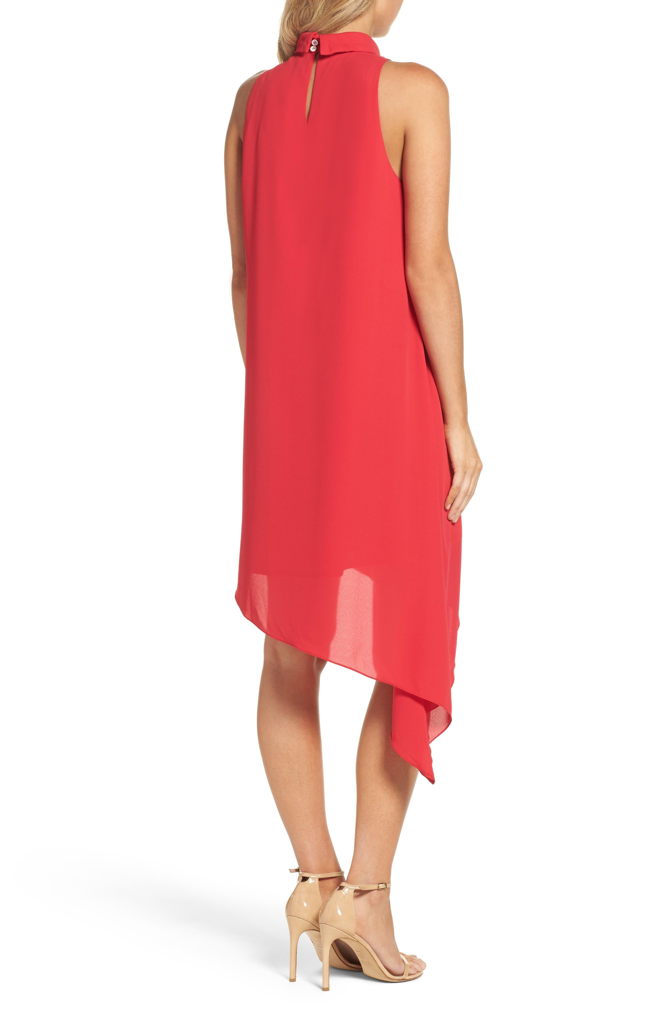 Asymmetric Hem Shift Dress,                             Alternate thumbnail 6, color,