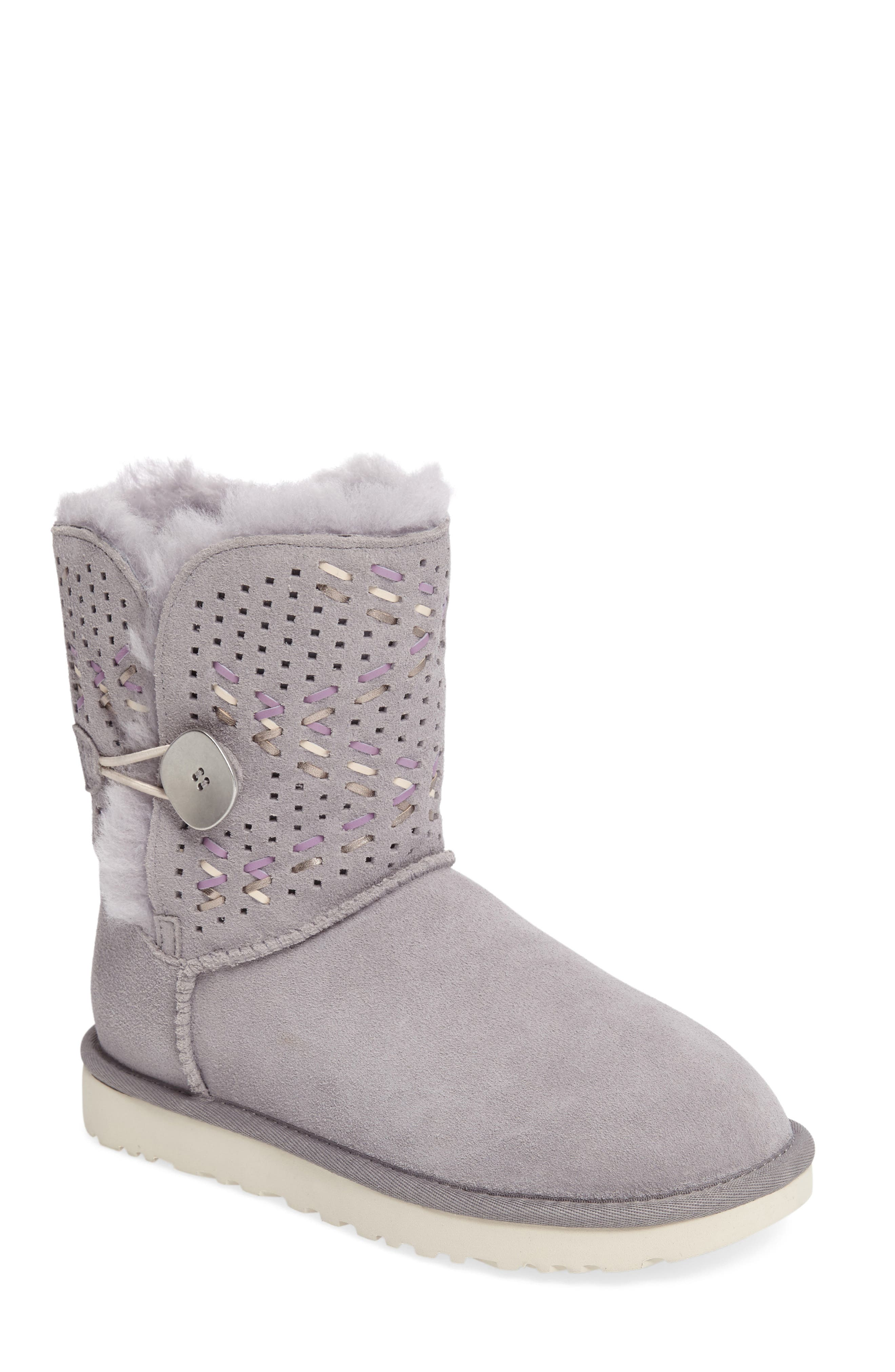 Bailey Button Tehuano Genuine Shearling Boot, Main, color, 055