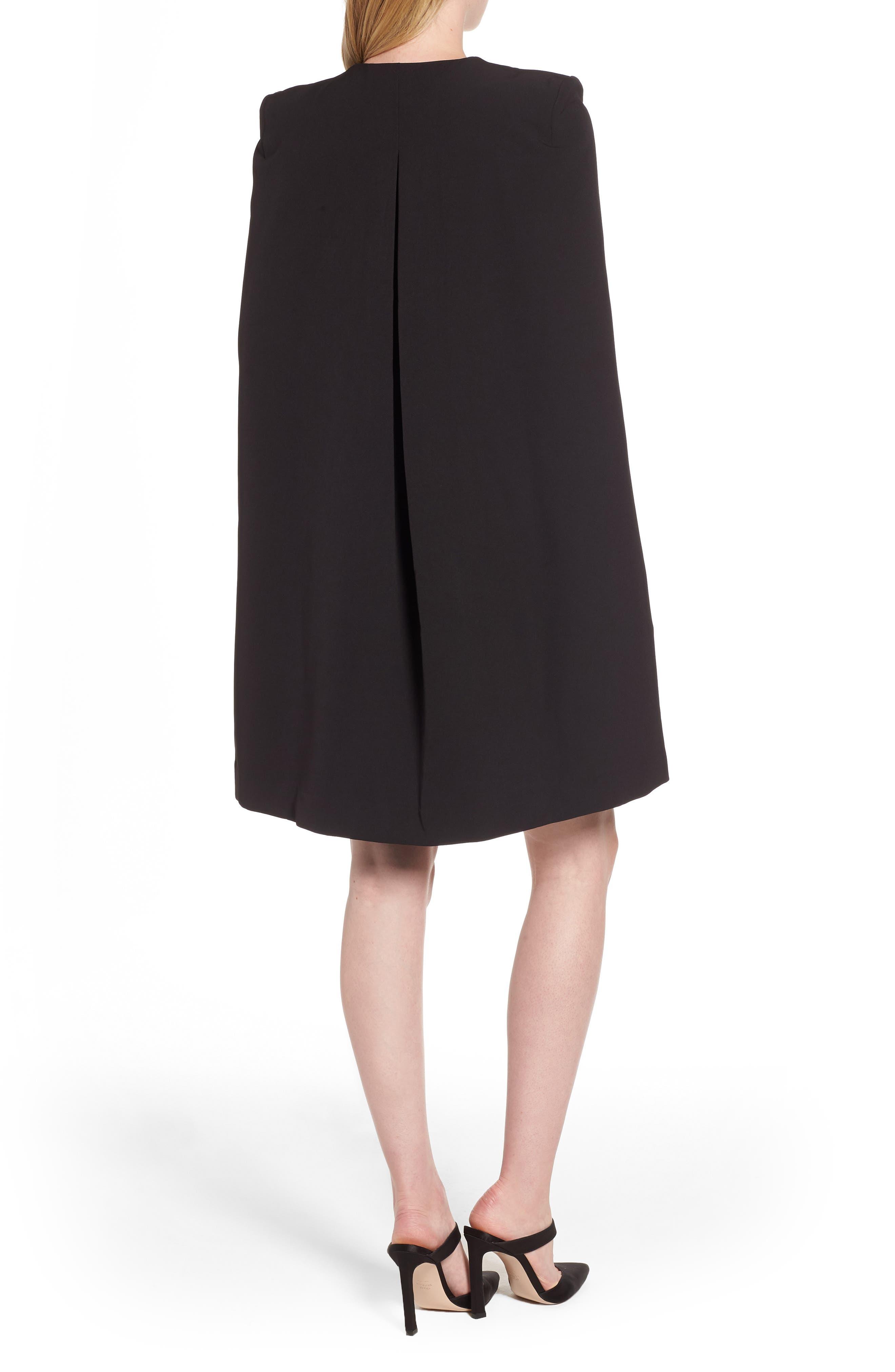 ELLIATT,                             Sorrento Cape Dress,                             Alternate thumbnail 2, color,                             001