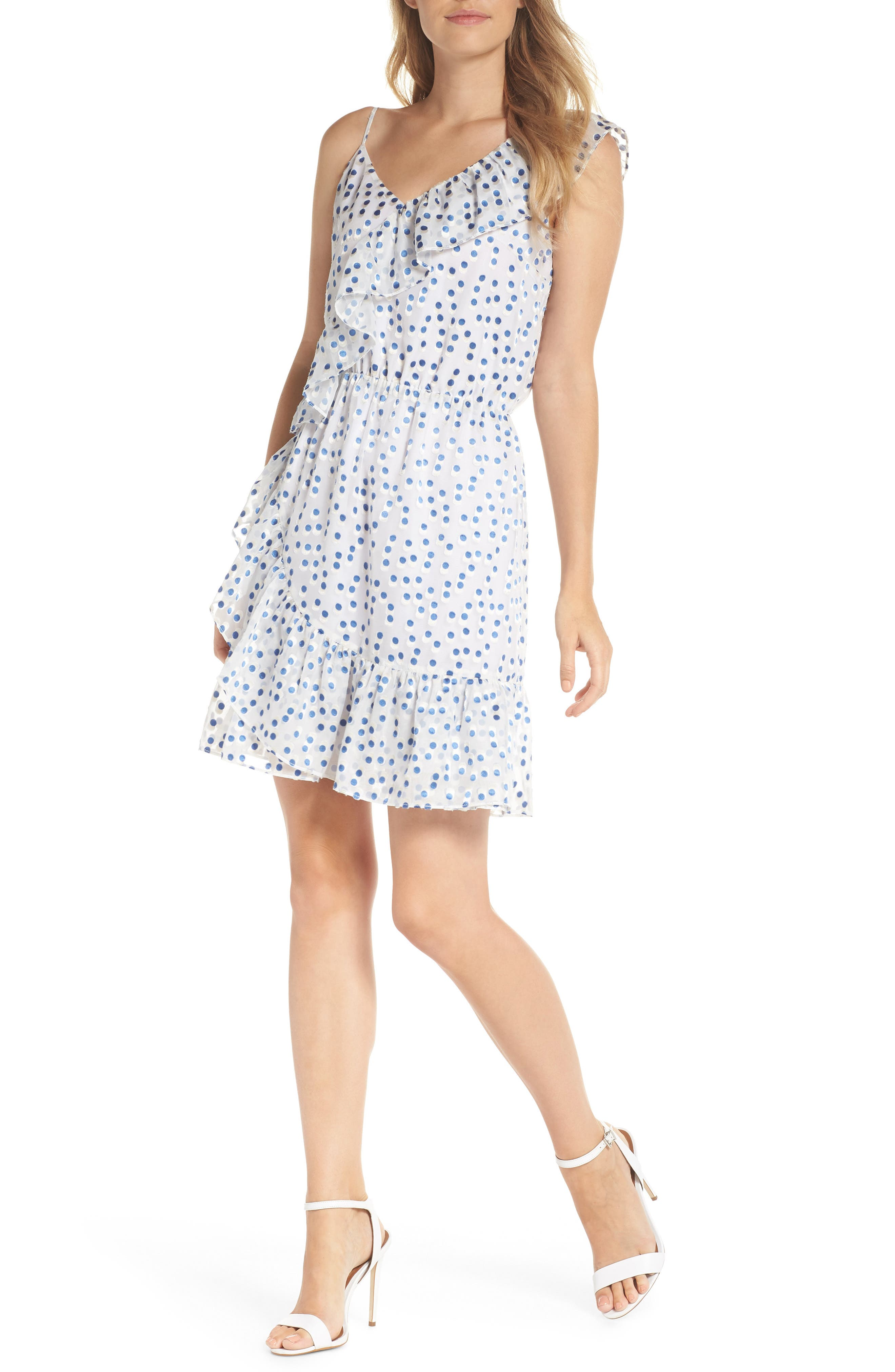 Lilly Pulitzer Madelina Asymmetrical Ruffle Dress, Blue