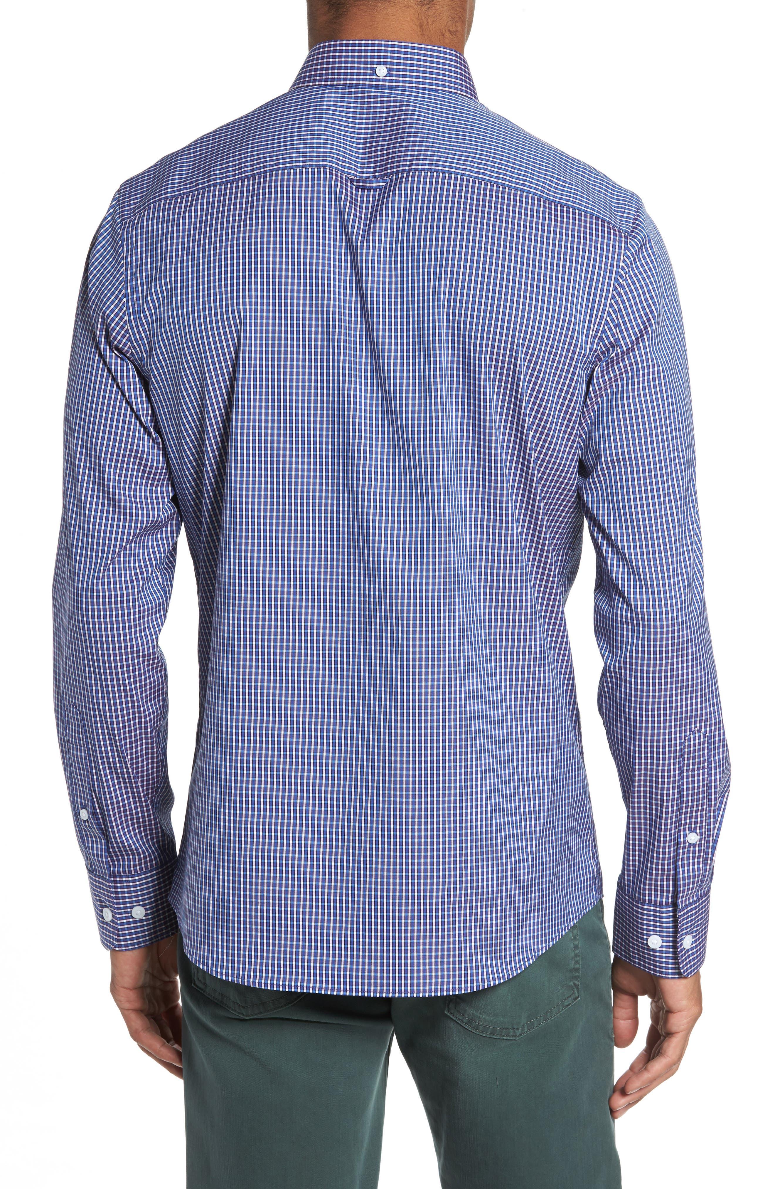 Tech-Smart Trim Fit Check Sport Shirt,                             Alternate thumbnail 2, color,                             501