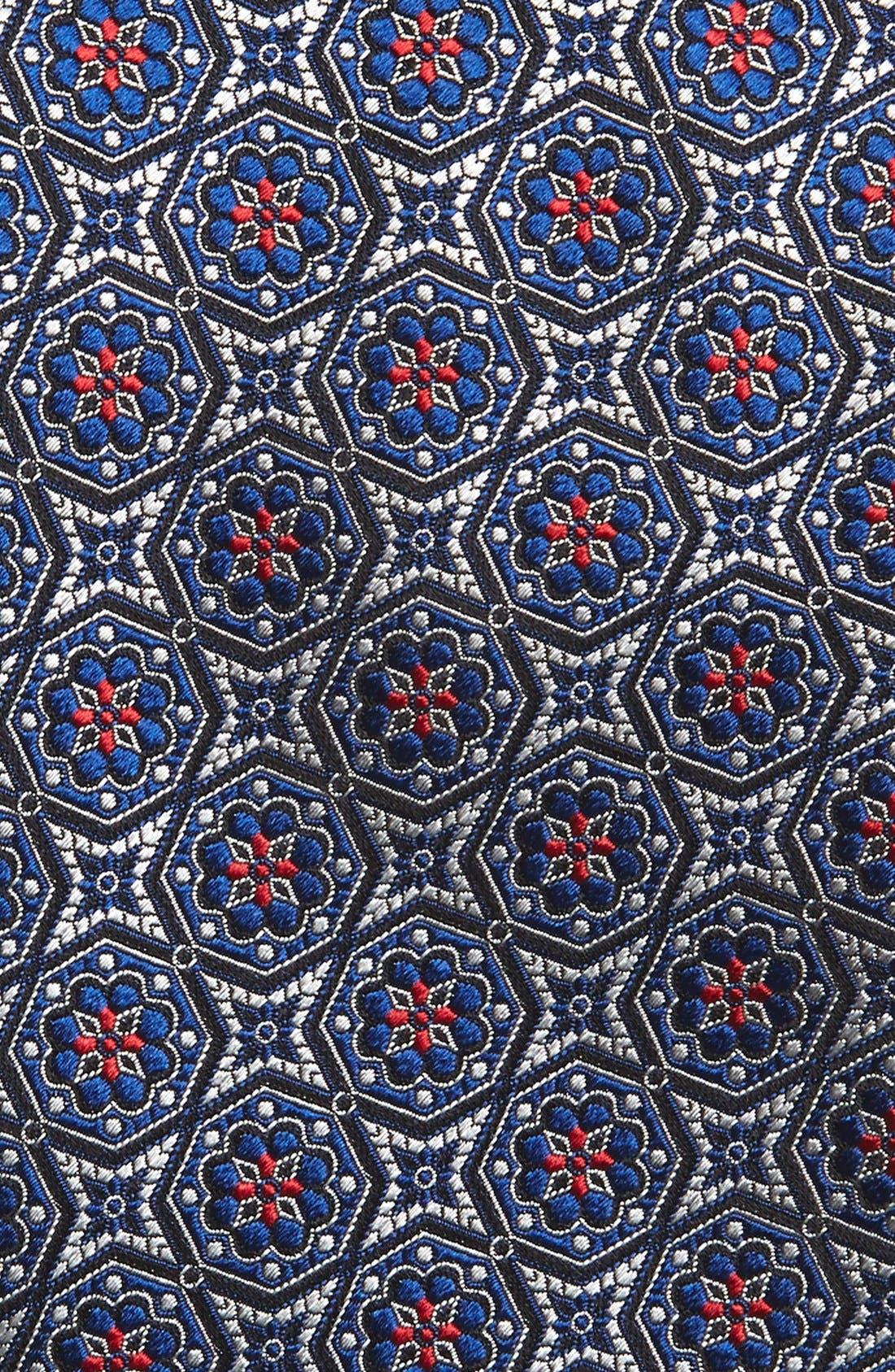Medallion Silk Tie,                             Alternate thumbnail 2, color,                             001