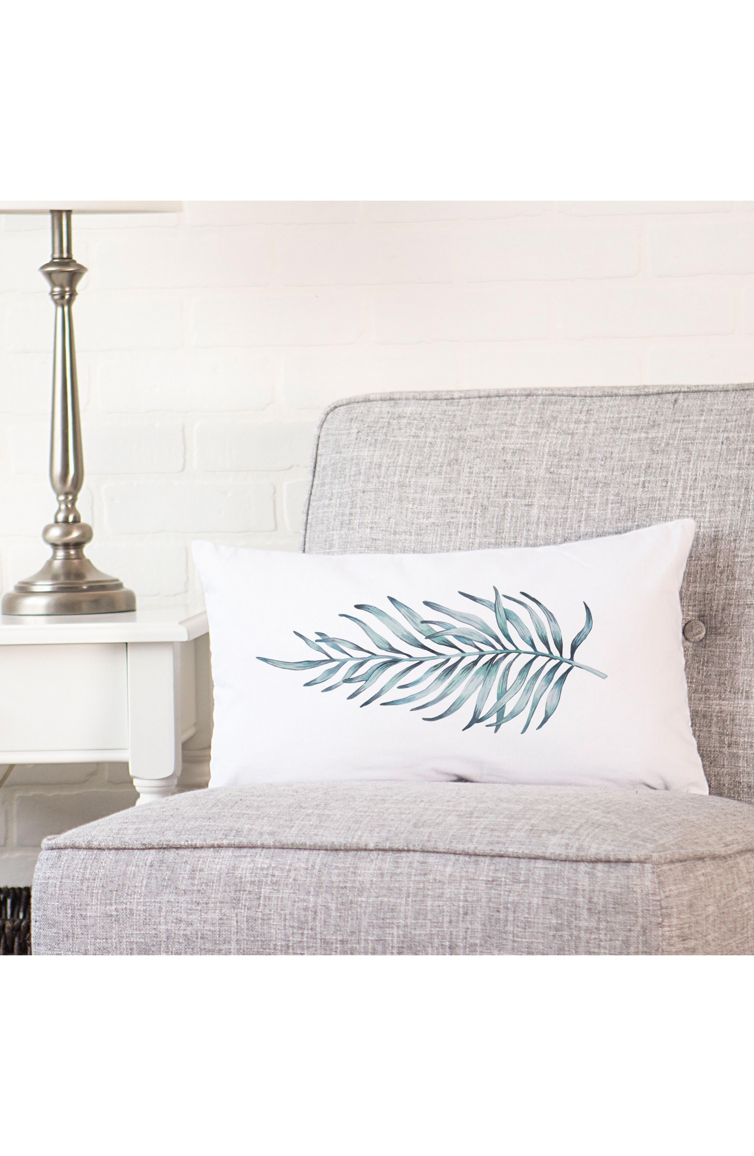 Palm Leaf Lumbar Accent Pillow,                             Alternate thumbnail 5, color,                             300