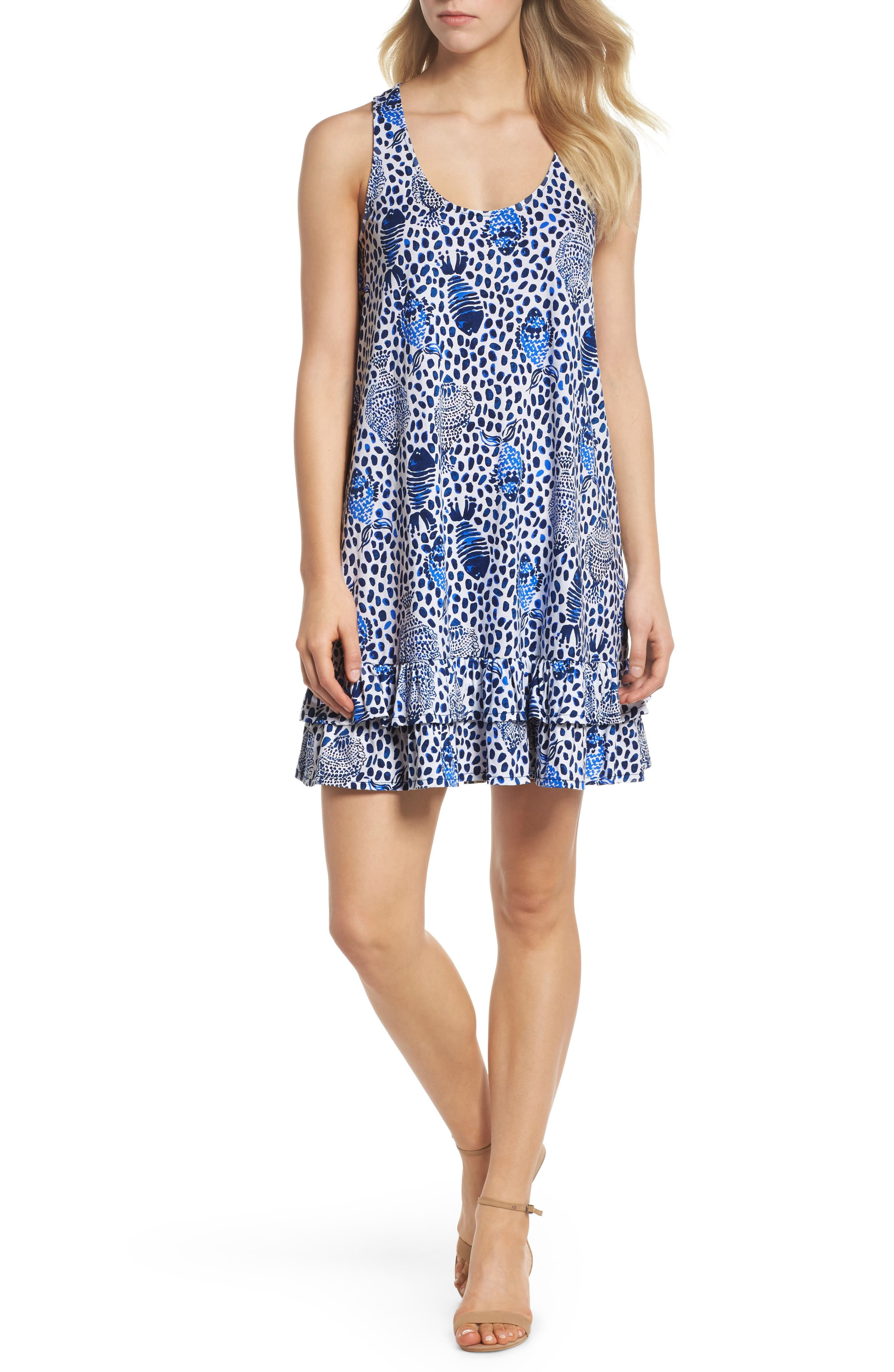 Evangelia Sleeveless Racerback Dress,                         Main,                         color,