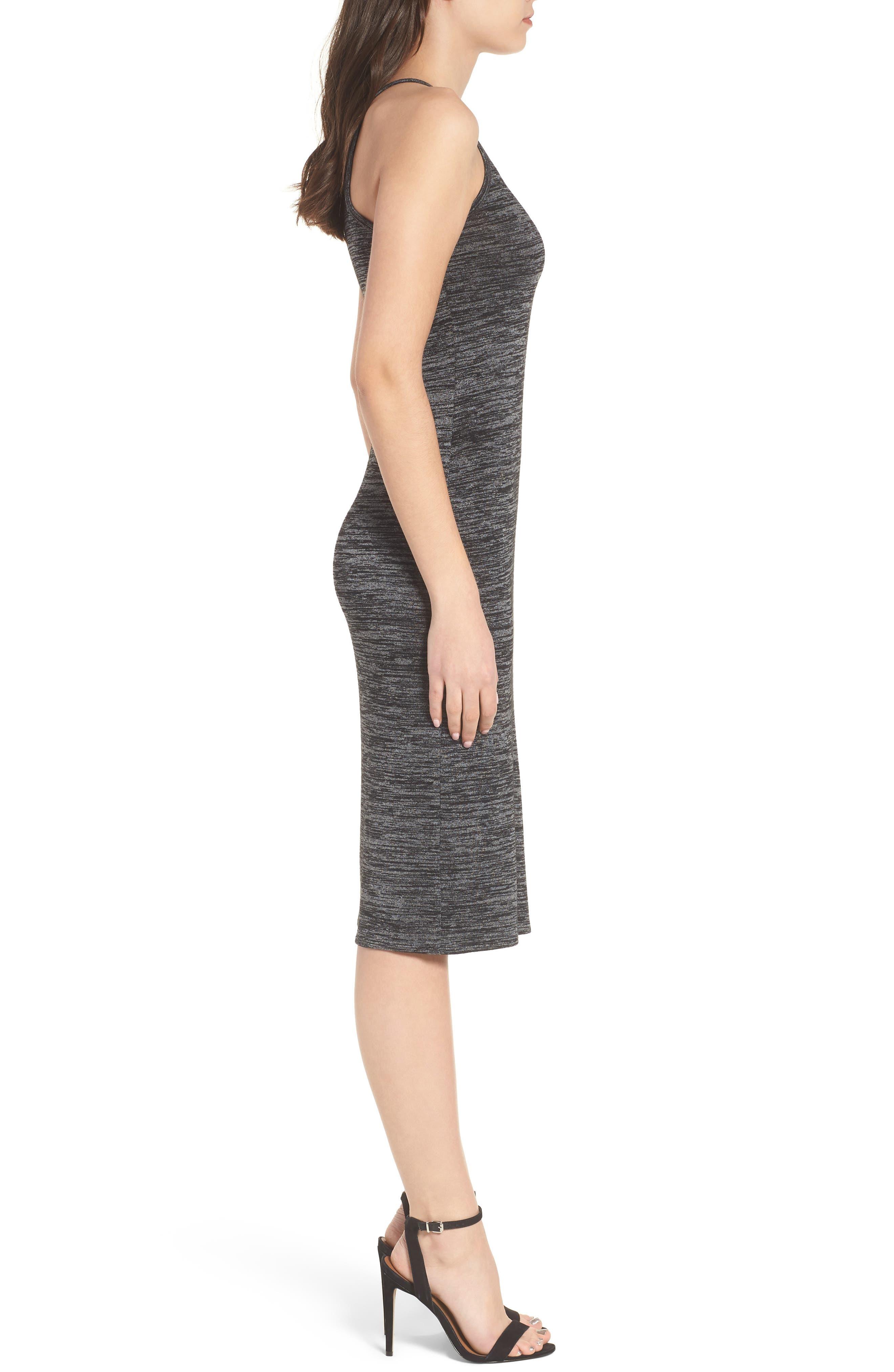 Mélange Body-Con Dress,                             Alternate thumbnail 3, color,                             021