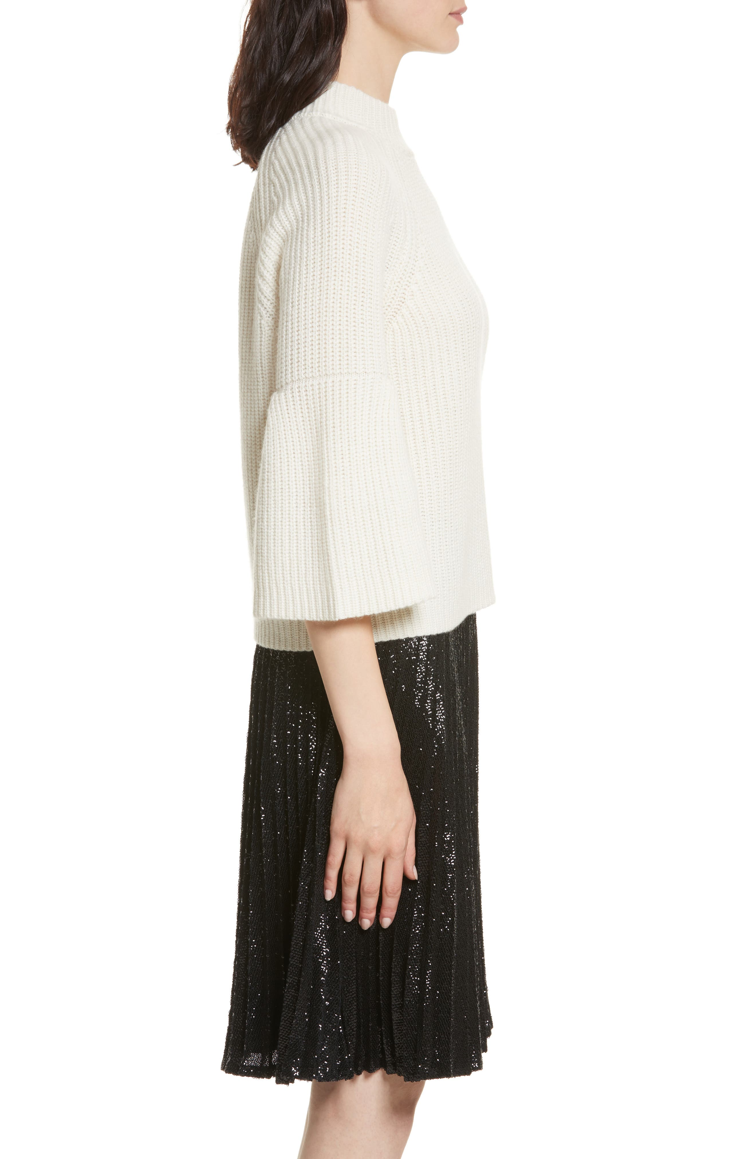 Ingrit Wool & Cashmere Sweater,                             Alternate thumbnail 3, color,                             114