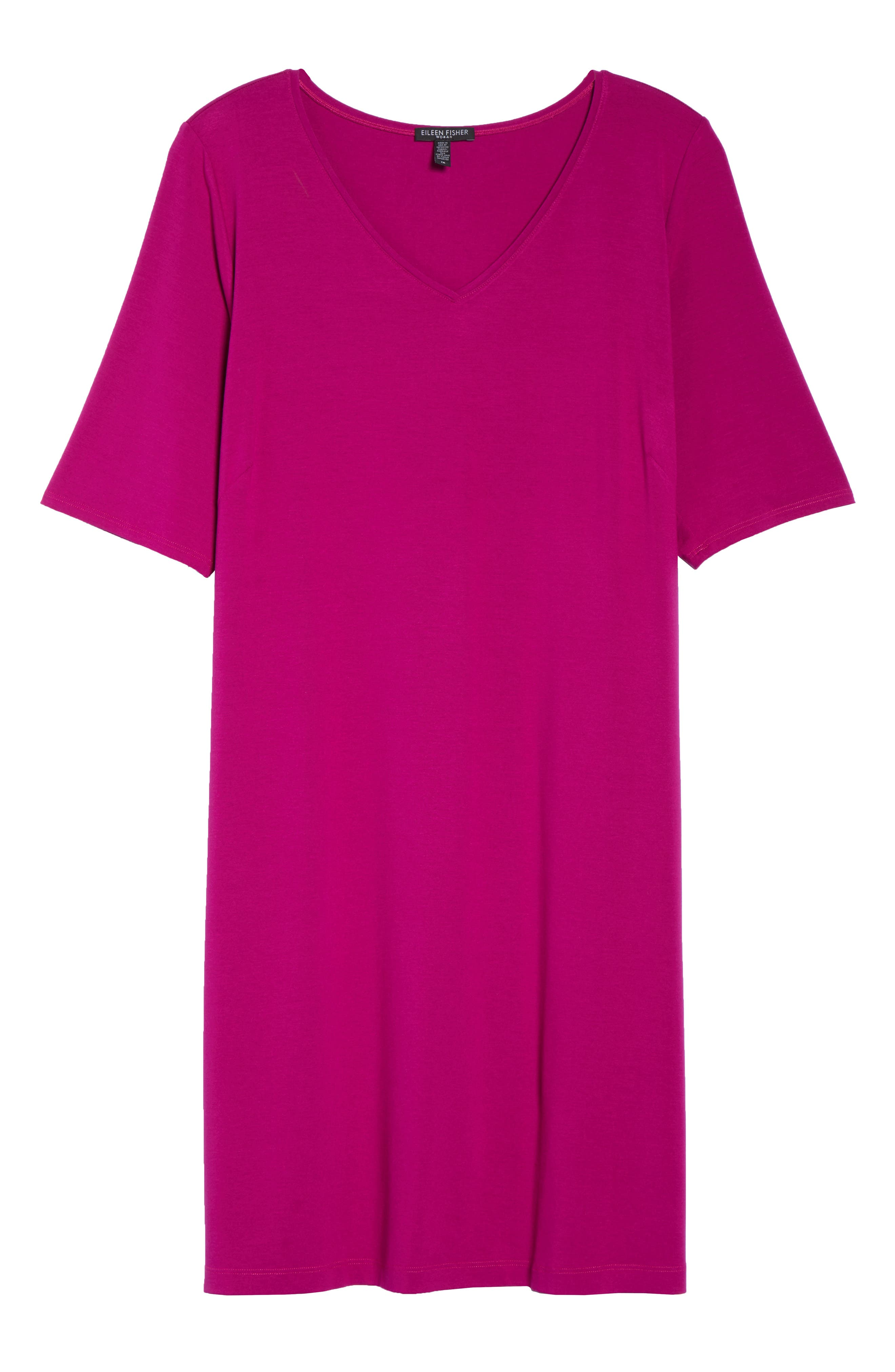 V-Neck Stretch Jersey Shift Dress,                             Alternate thumbnail 31, color,