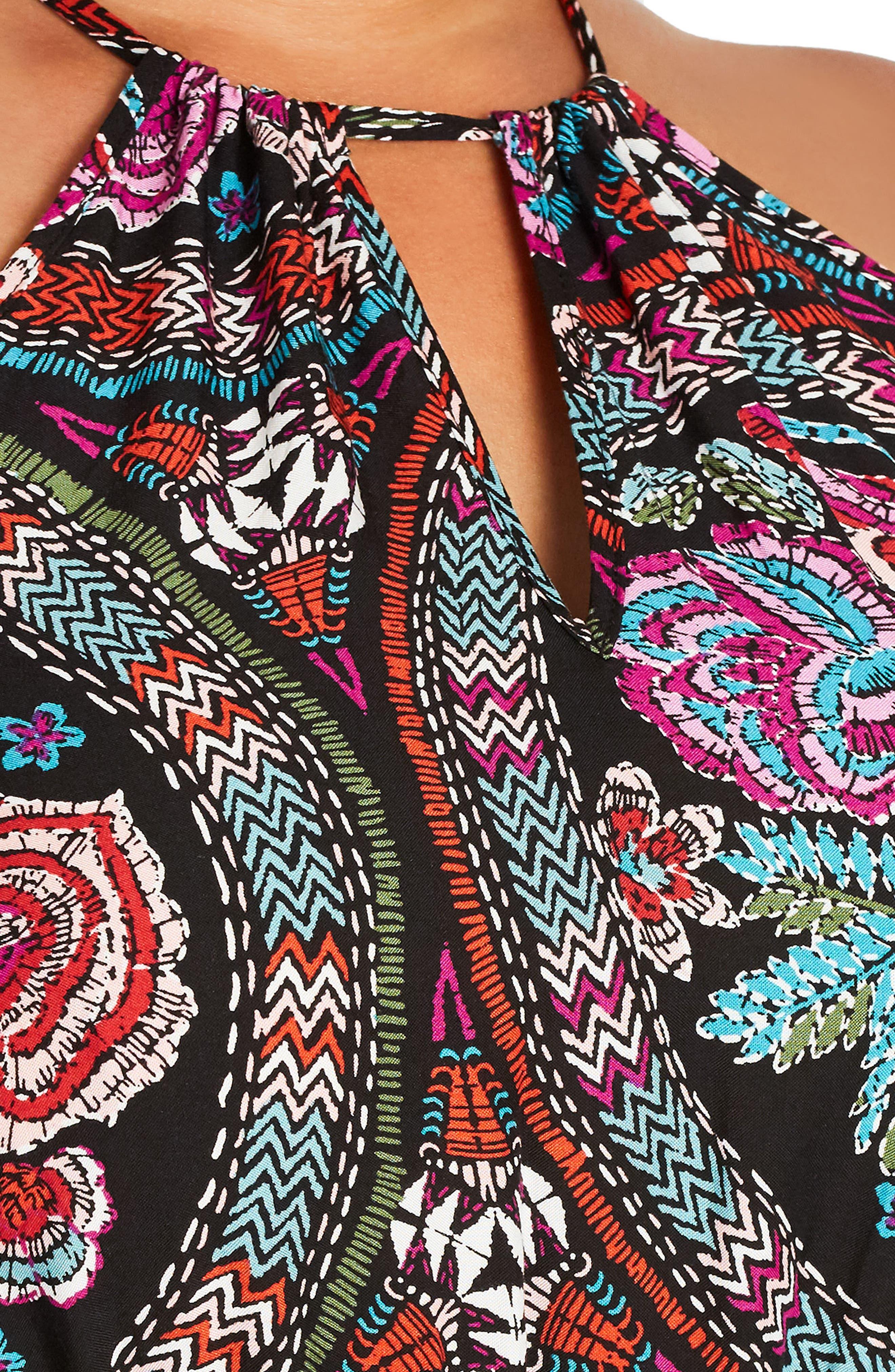 Folklore Maxi Dress,                             Alternate thumbnail 3, color,                             FOLKLORE