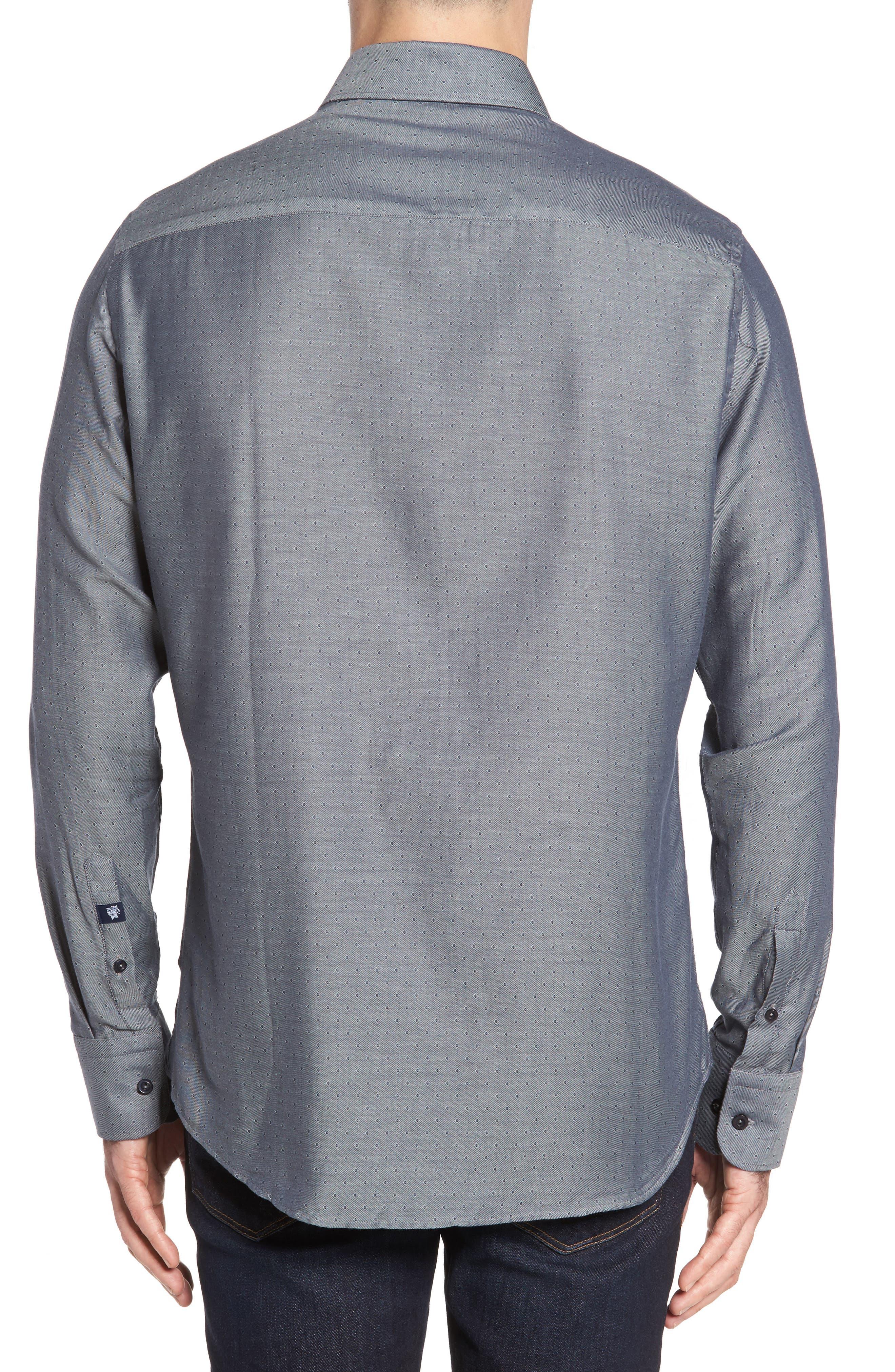 Slim Fit Diamond Twill Sport Shirt,                             Alternate thumbnail 2, color,                             020