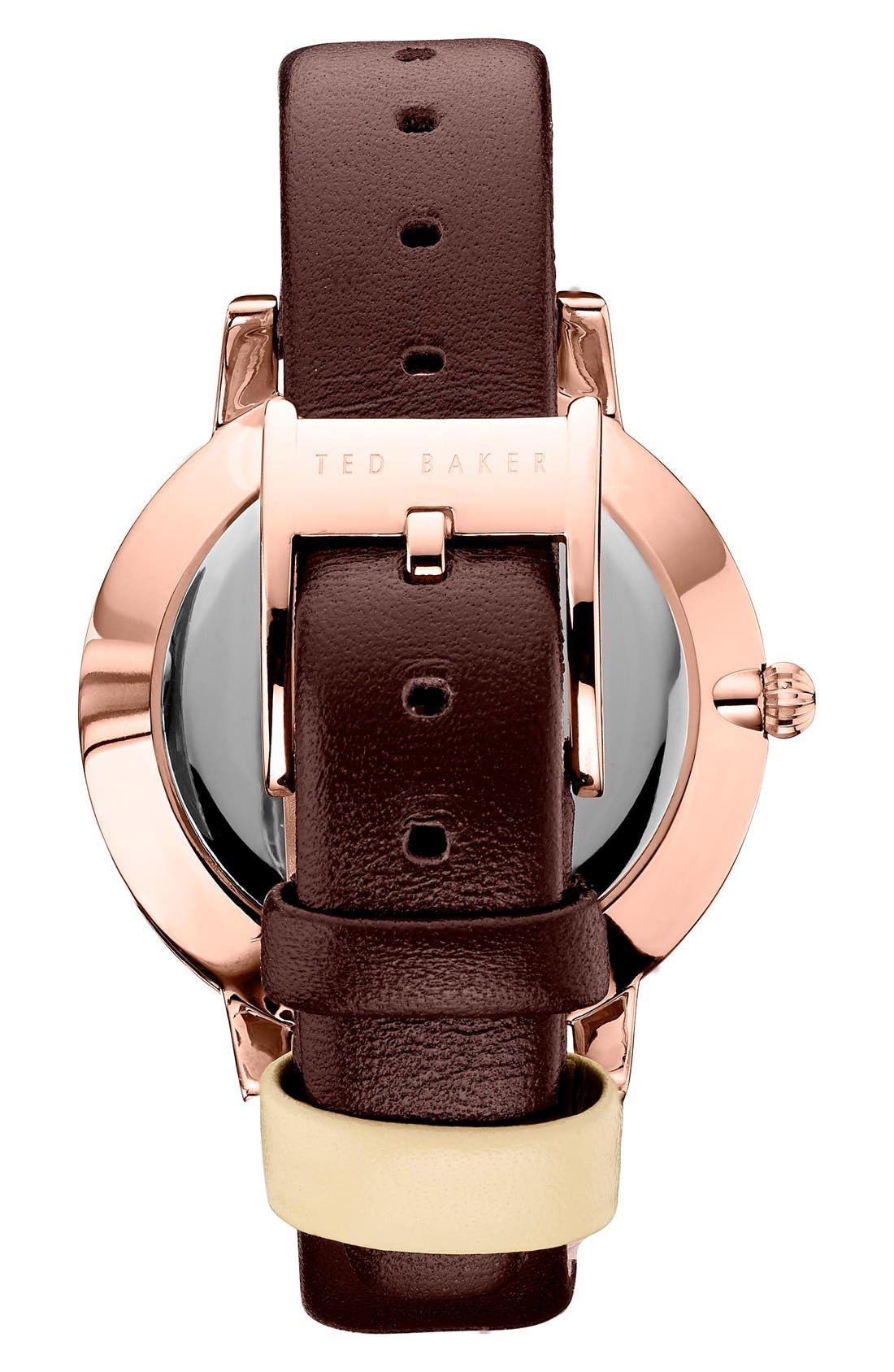 'Dress Sport' Multifunction Leather Strap Watch, 40mm,                             Alternate thumbnail 2, color,                             200