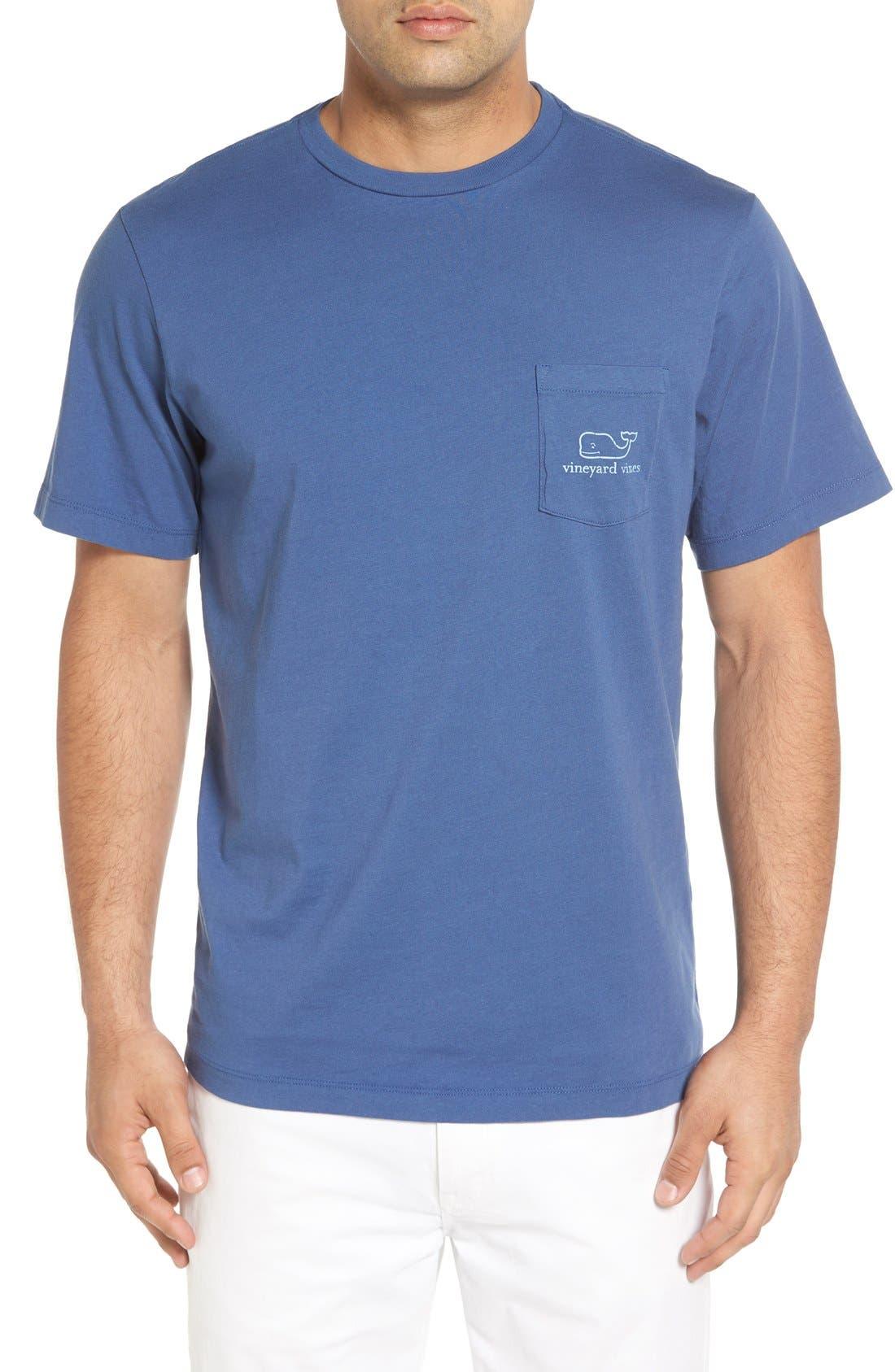 Vintage Whale Pocket T-Shirt,                             Alternate thumbnail 4, color,                             461