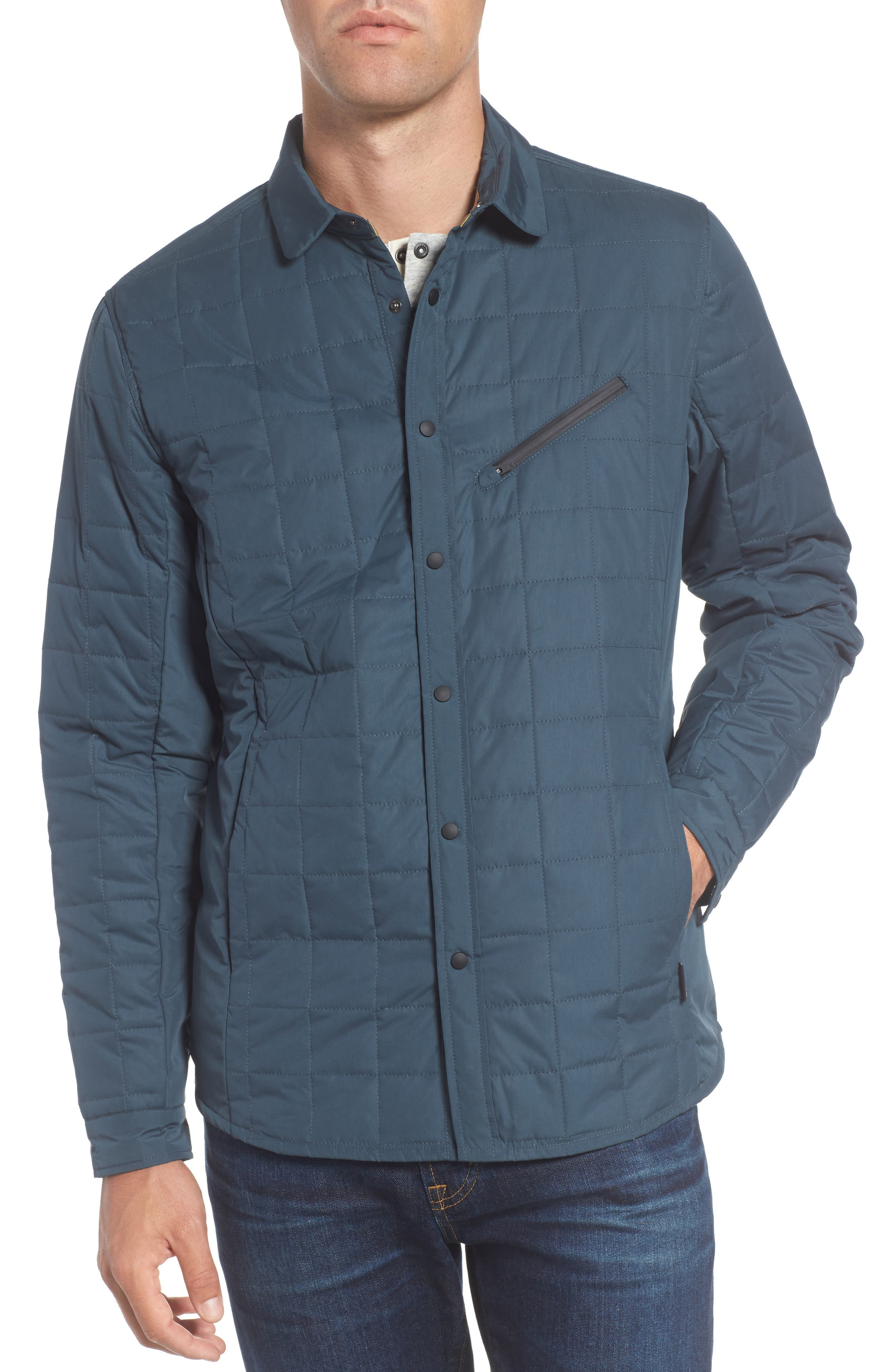 Bixby Quilted Shirt Jacket,                             Alternate thumbnail 4, color,                             FLOOD