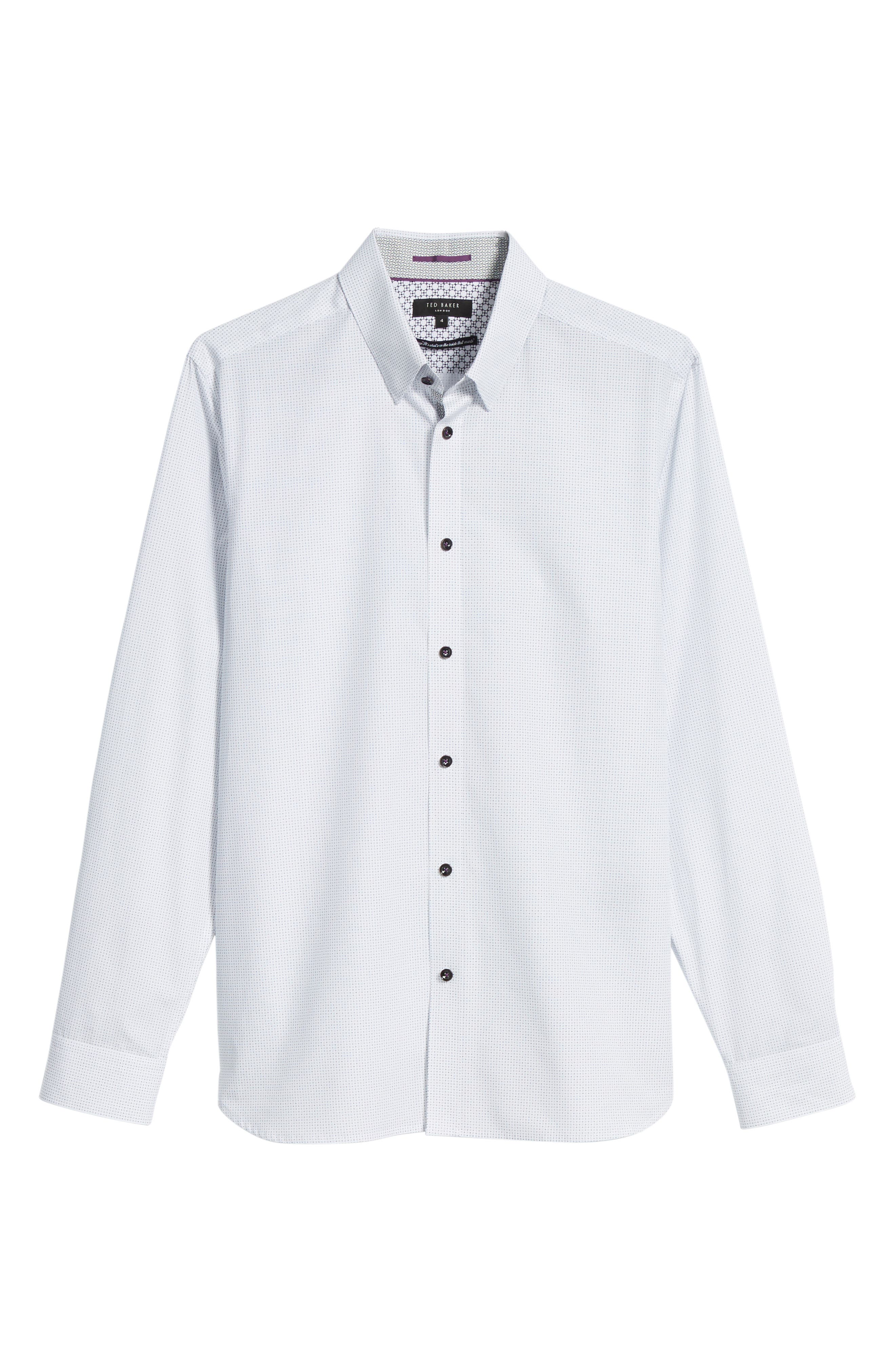 Arkells Modern Slim Fit Print Sport Shirt,                             Alternate thumbnail 6, color,