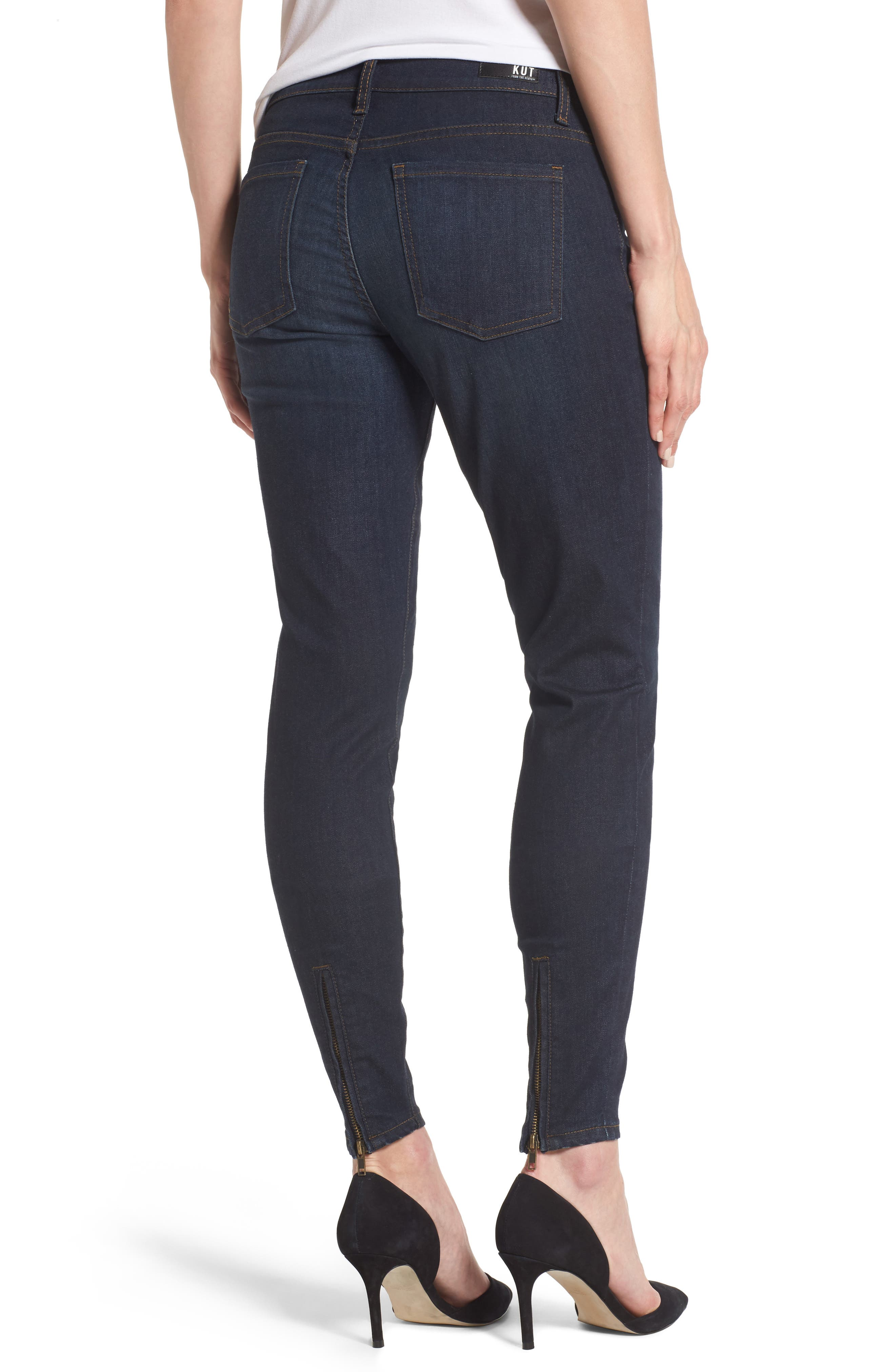 Connie Zip Back Skinny Ankle Jeans,                             Alternate thumbnail 2, color,                             419