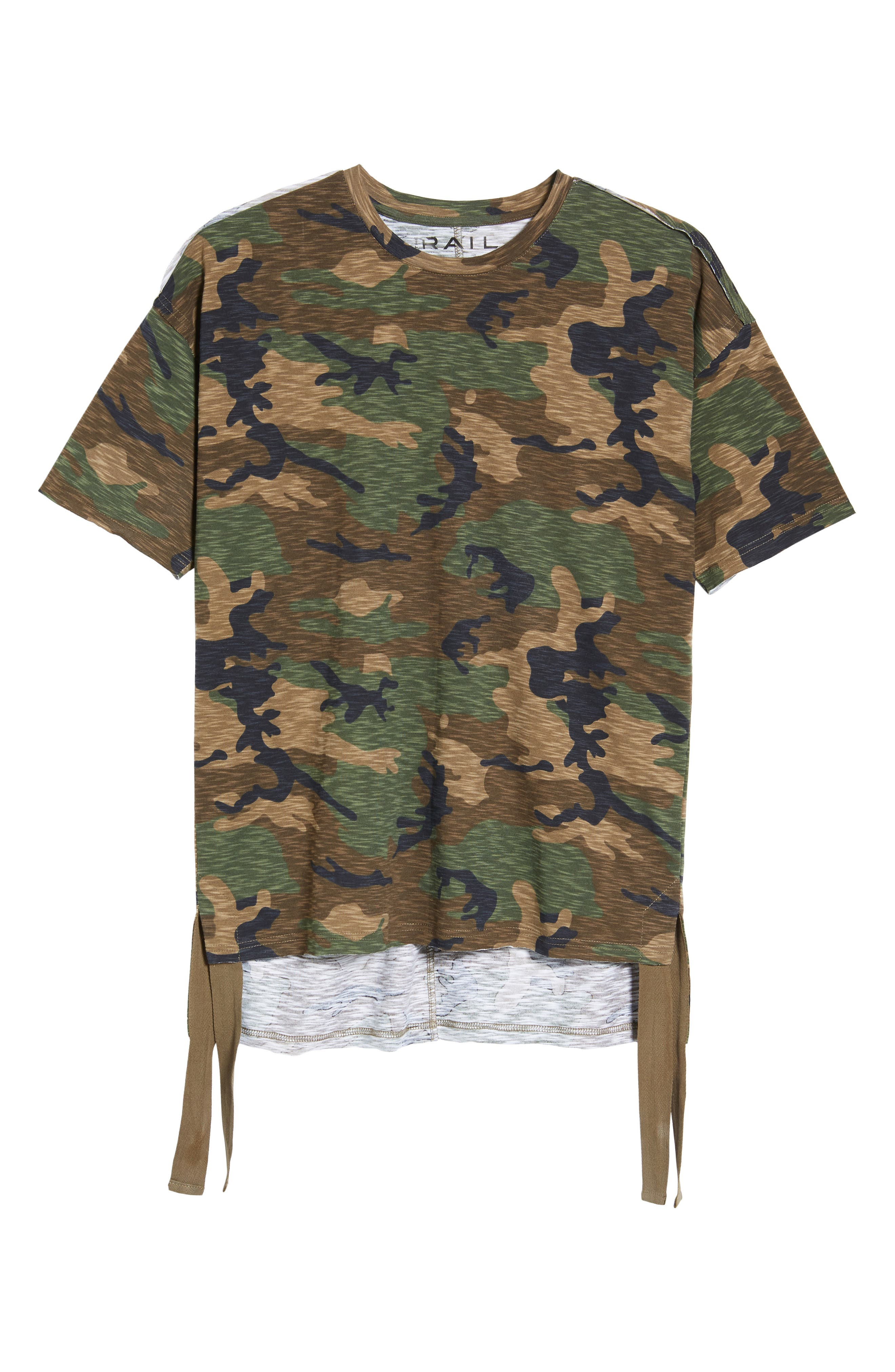 Camo Strapped T-Shirt,                             Alternate thumbnail 6, color,                             210