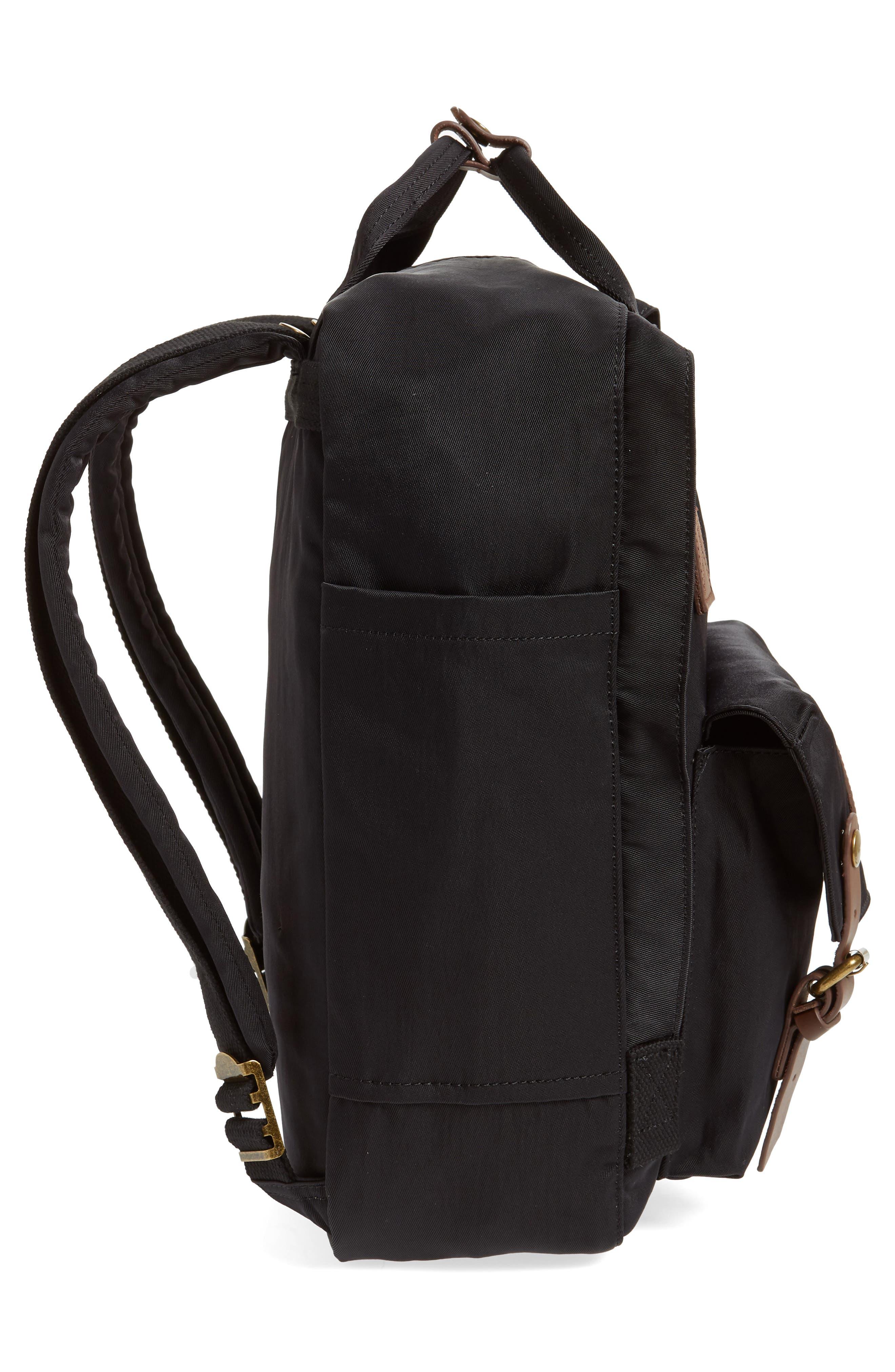 Macaroon Water Resistant Backpack,                             Alternate thumbnail 5, color,                             BLACK