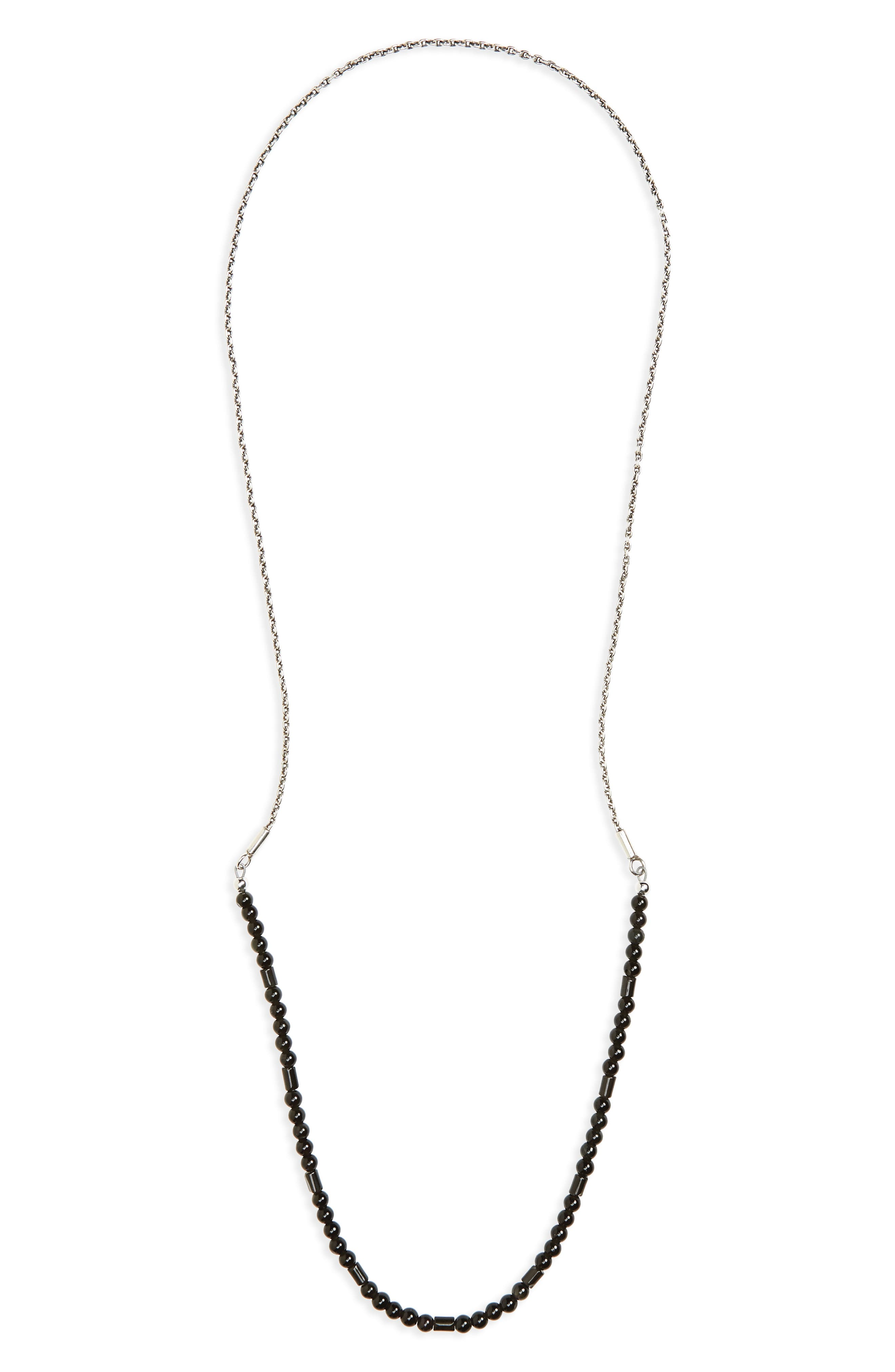 Sterling Silver & Stone Necklace,                         Main,                         color,