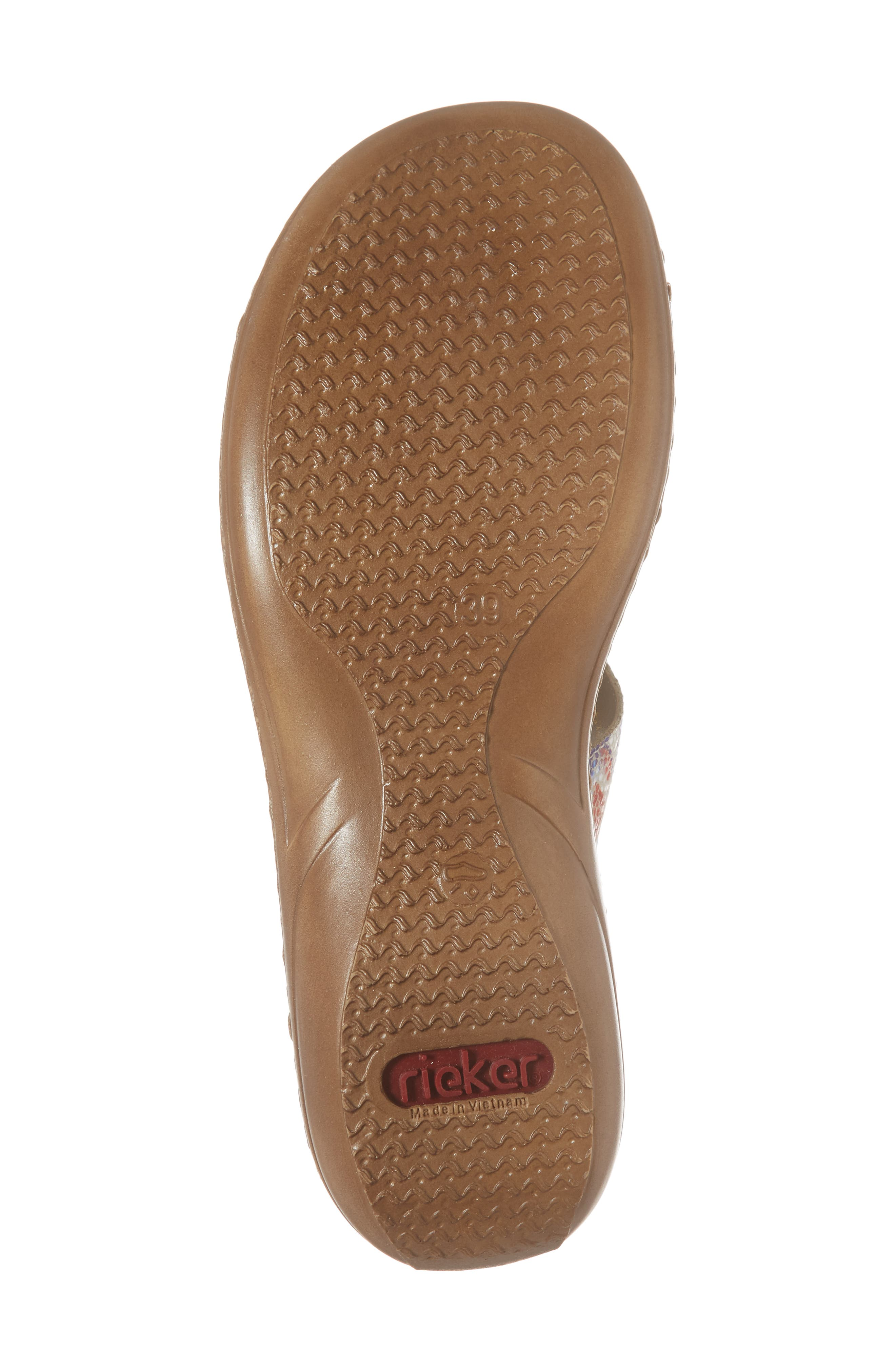Regina P9 Slide Sandal,                             Alternate thumbnail 6, color,                             WHITE MULTI FABRIC