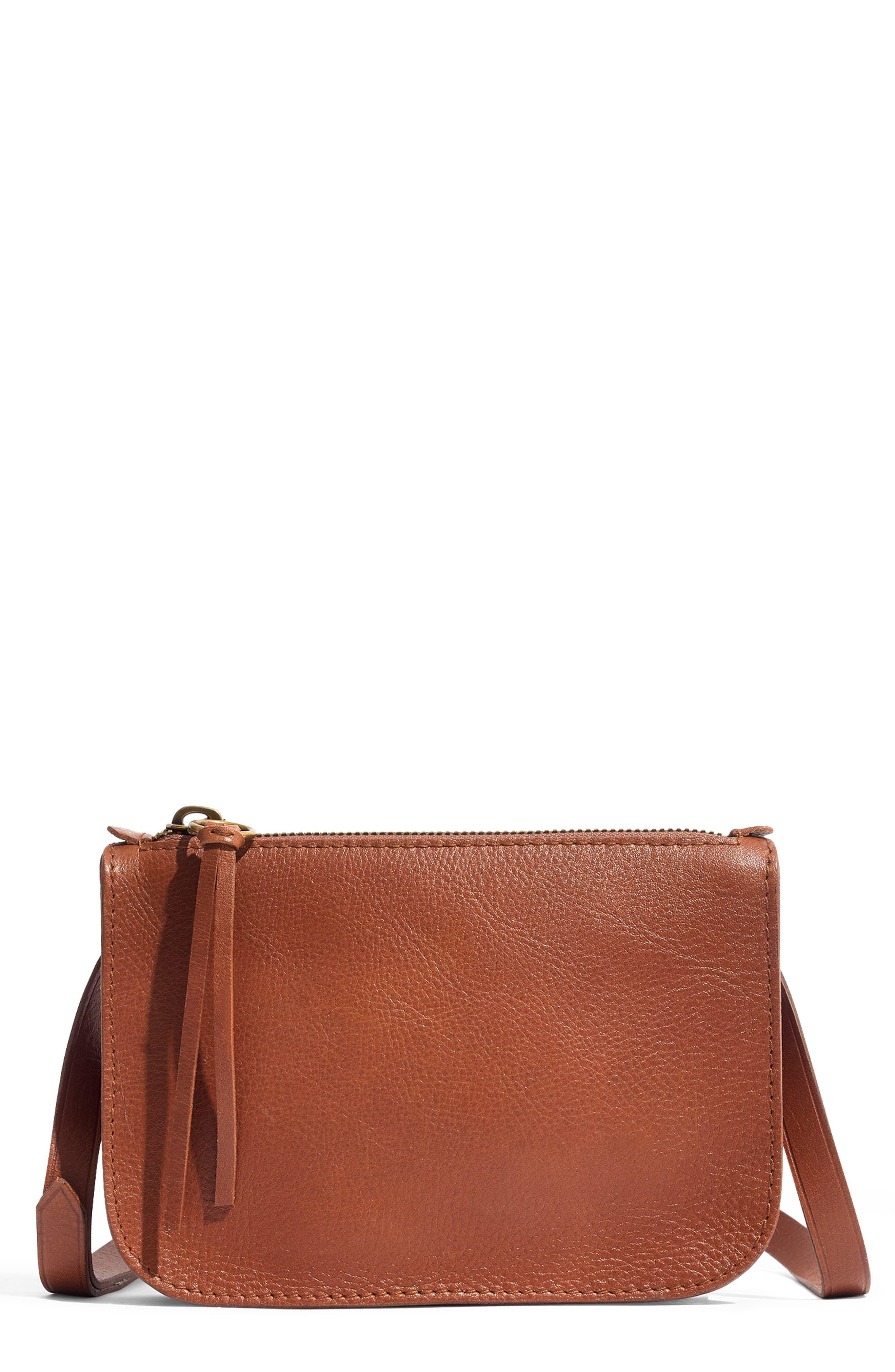 The Simple Pouch Belt Bag,                             Main thumbnail 1, color,                             ENGLISH SADDLE