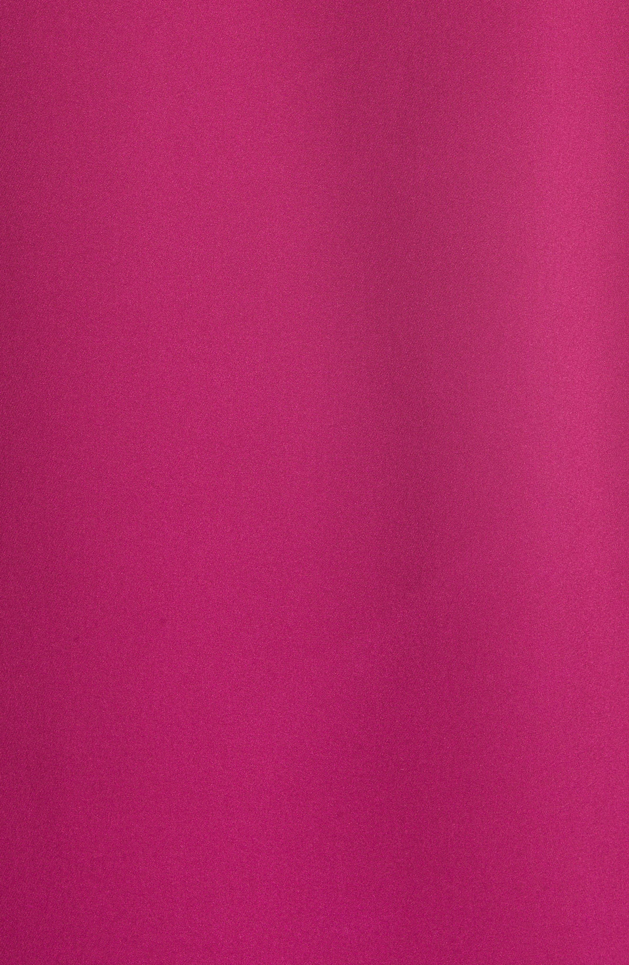 Modern Silk Tee,                             Alternate thumbnail 5, color,                             ELECTRIC PINK