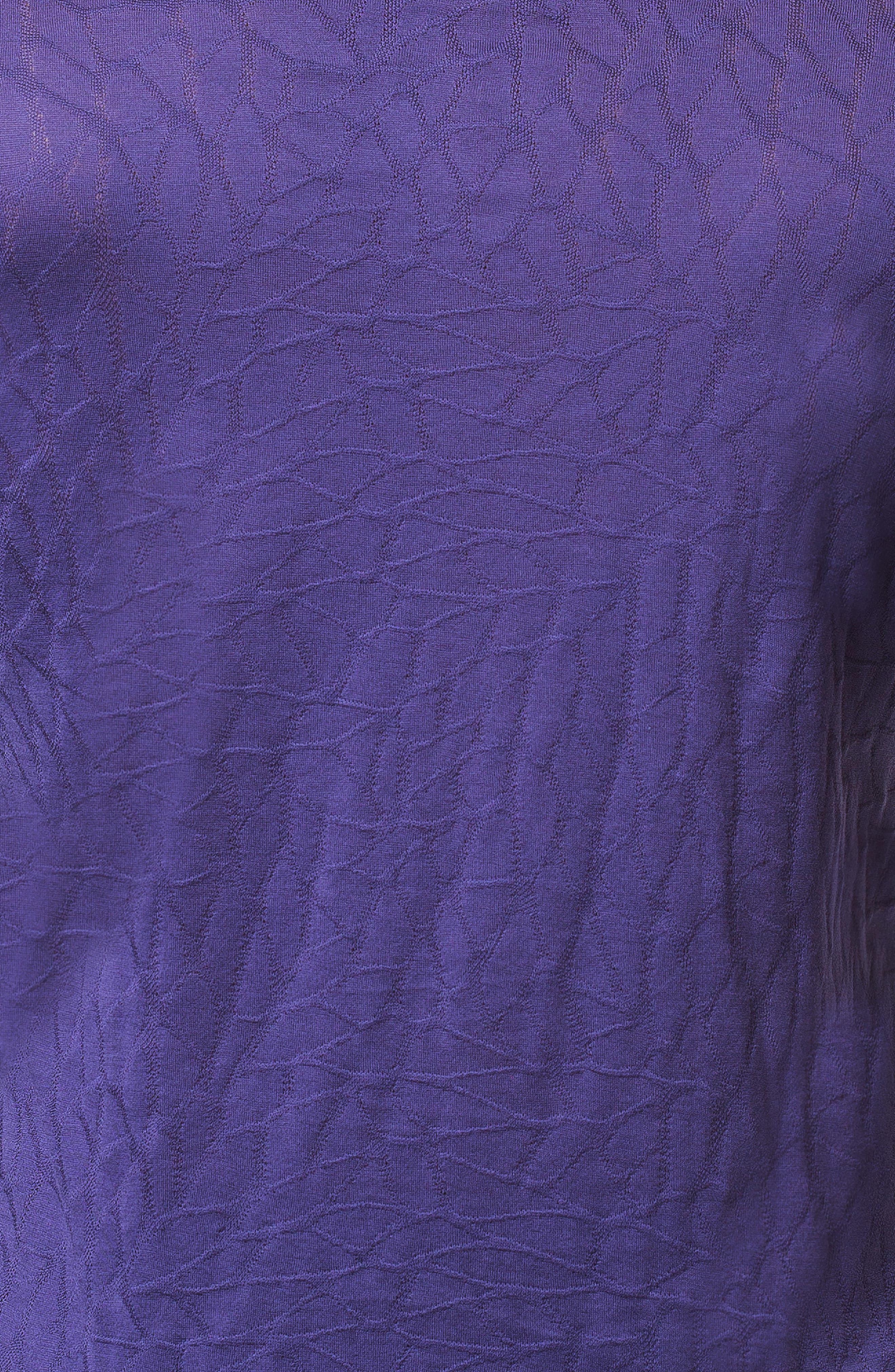 Newton Trim Fit Long Sleeve Polo,                             Alternate thumbnail 3, color,                             PURPLE