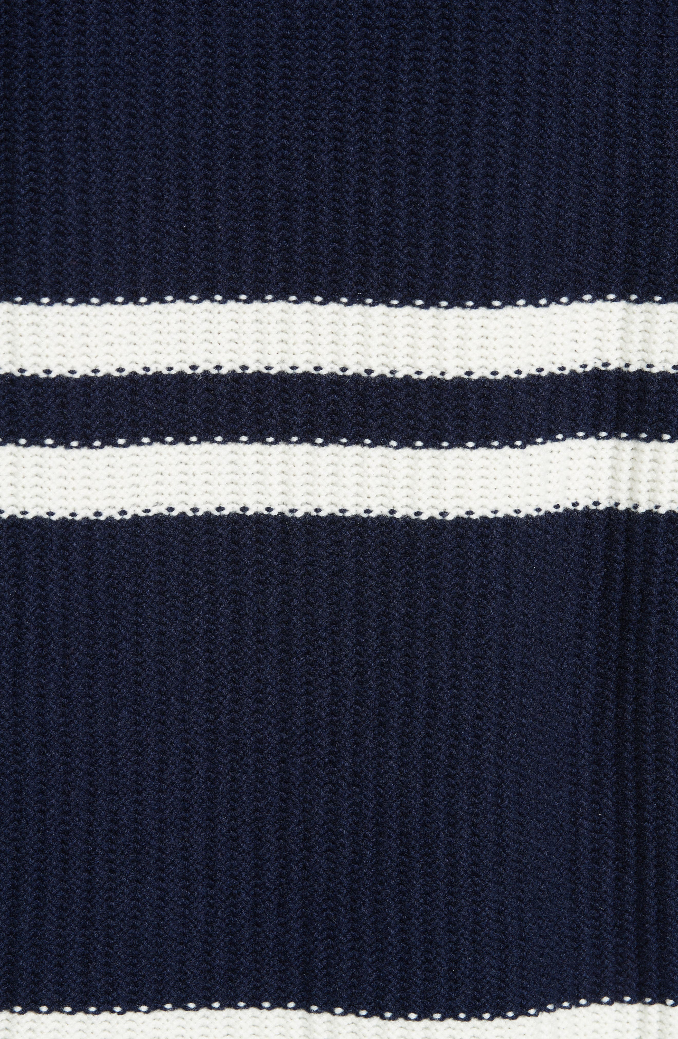Tieve Stripe Cashmere & Cotton Sweater,                             Alternate thumbnail 5, color,                             NAVY/ ECRU