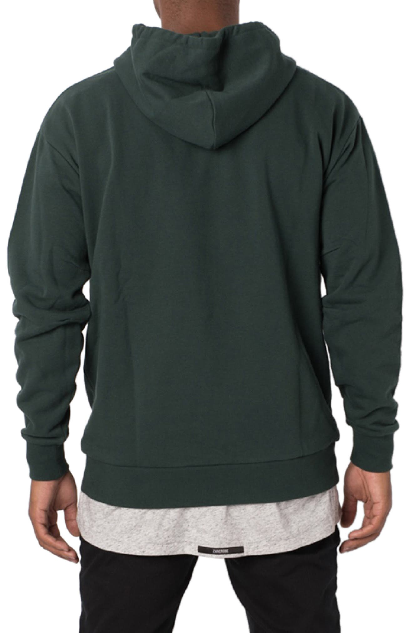 ZANEROBE,                             Flintlock Longline Hoodie,                             Alternate thumbnail 2, color,                             FOREST